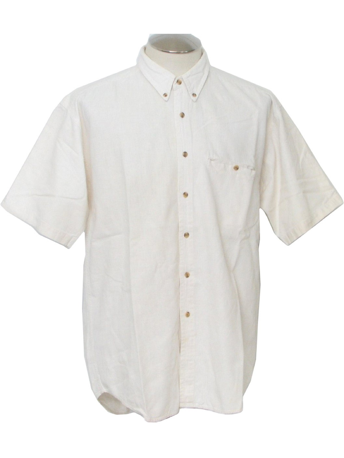 Retro 1980's Shirt (Gap) : 80s -Gap- Mens linen and cotton, ivory ...