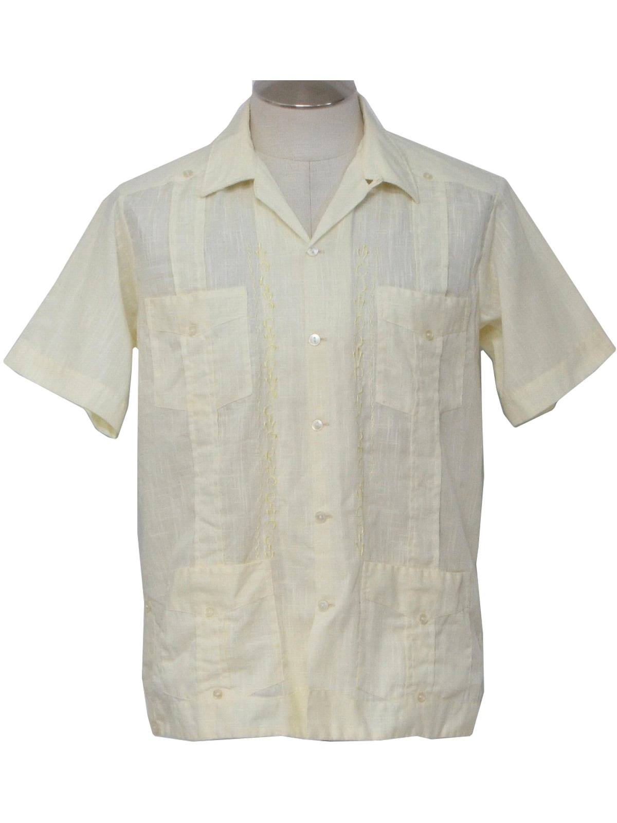 Vintage Yucateca Eighties Guayabera Shirt 80s Yucateca