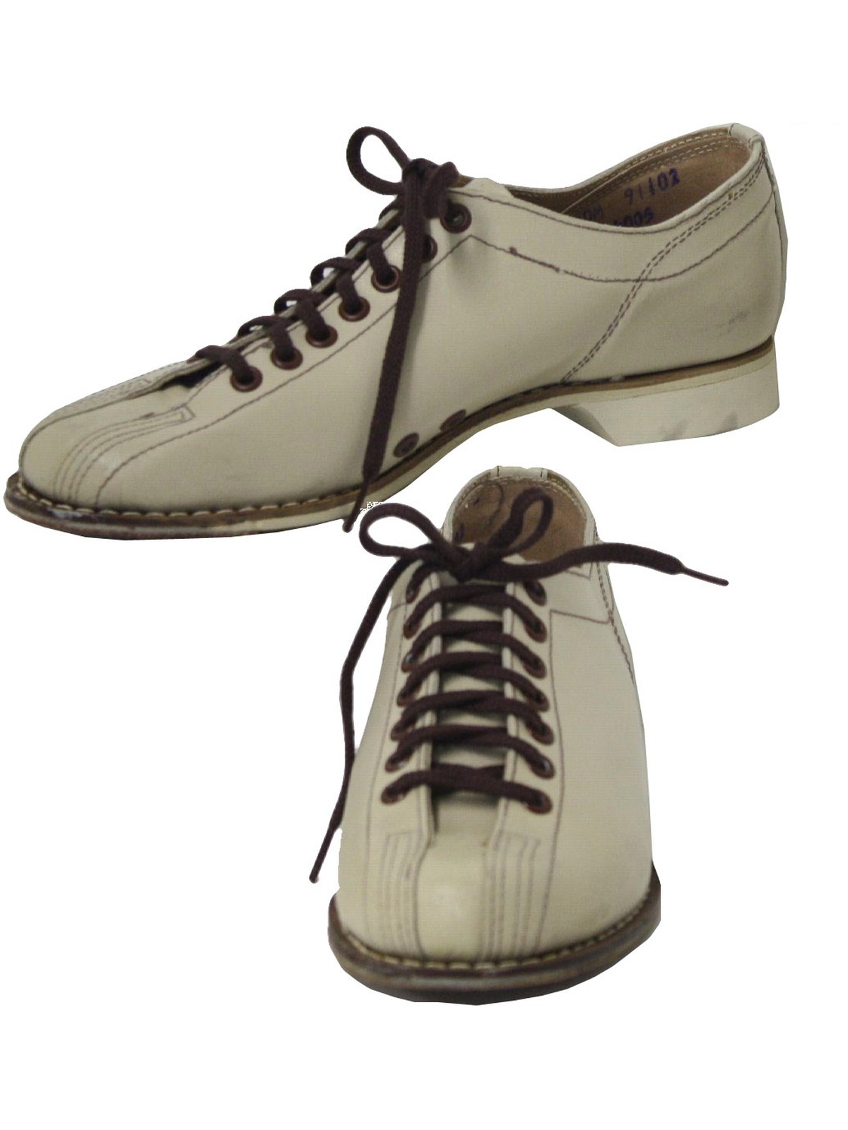shoes 60s midsco athletics womens ivory smooth leather bowling shoes