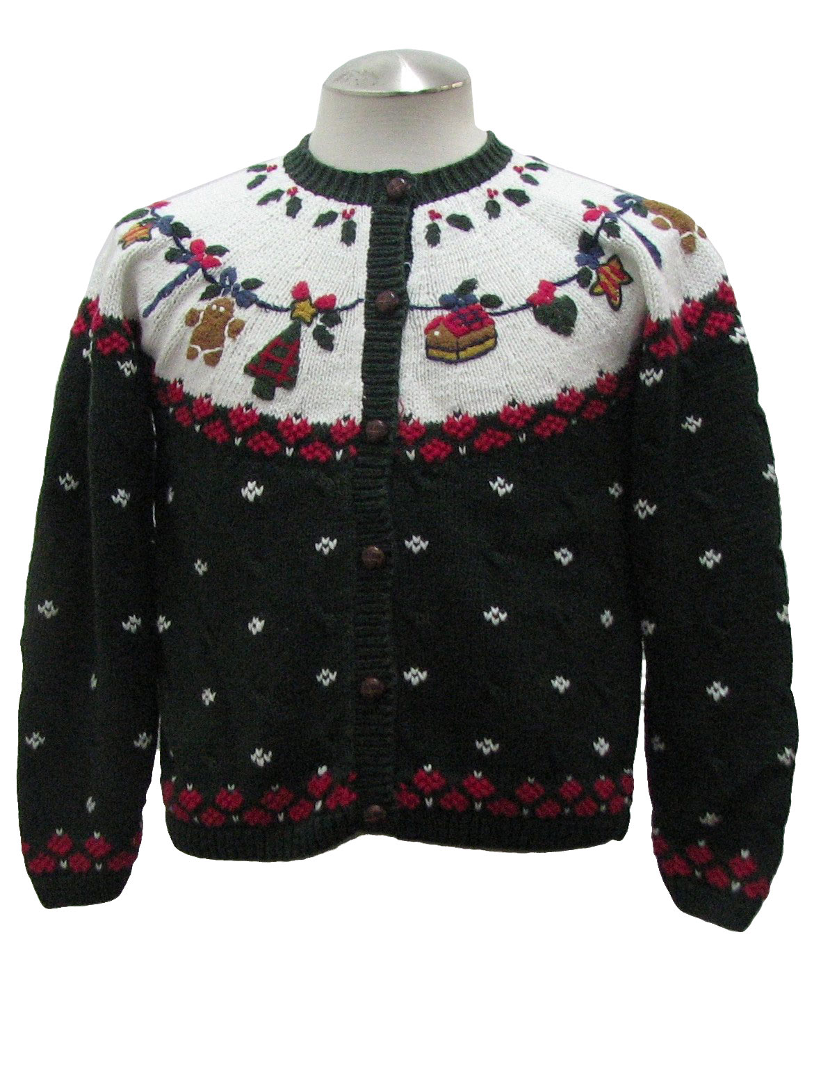 Womens Ugly Christmas Sweater North Crest Womens White Green