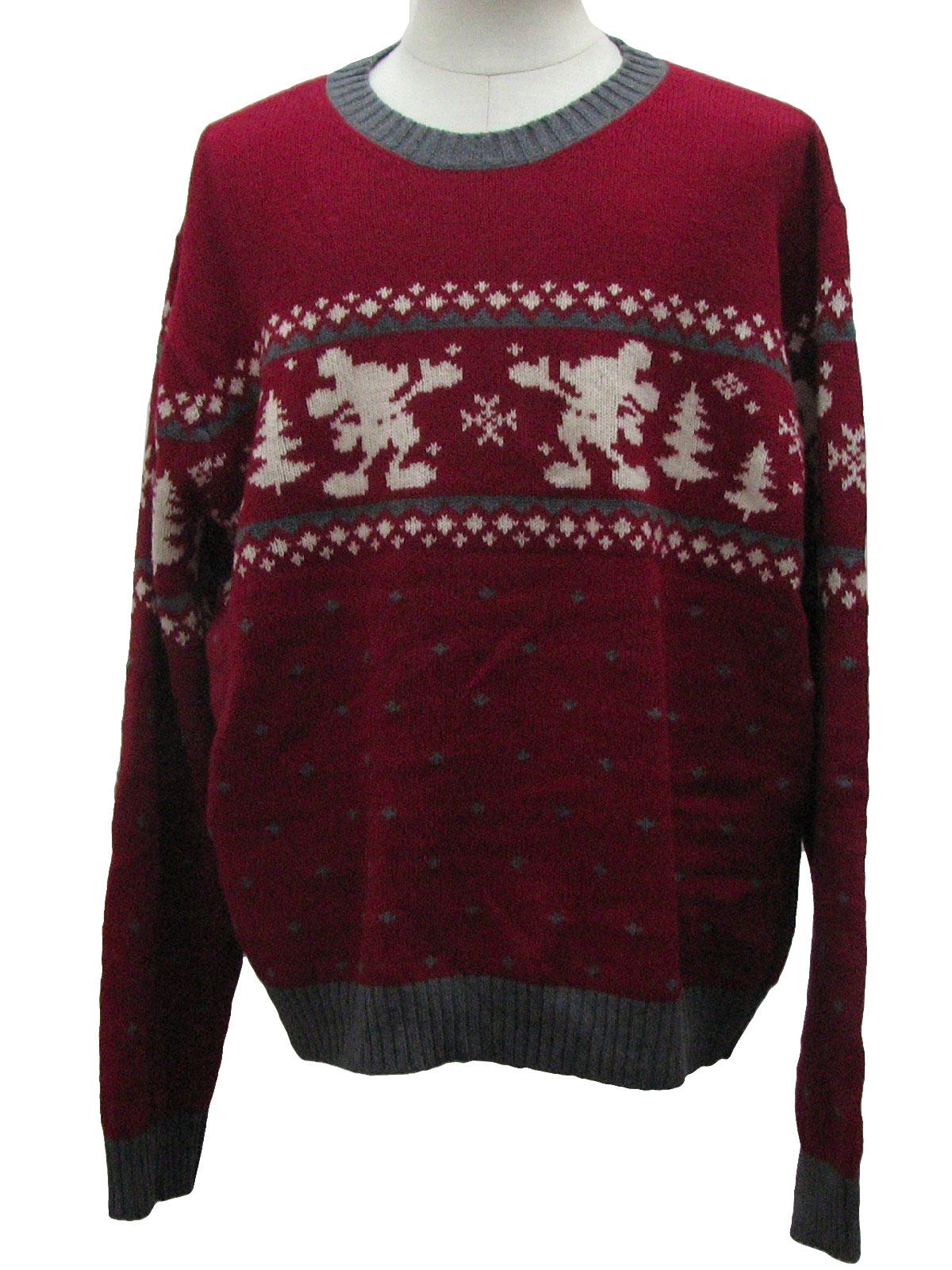 Disney Ugly Christmas Sweater.Disney Mens Ugly Christmas Sweater