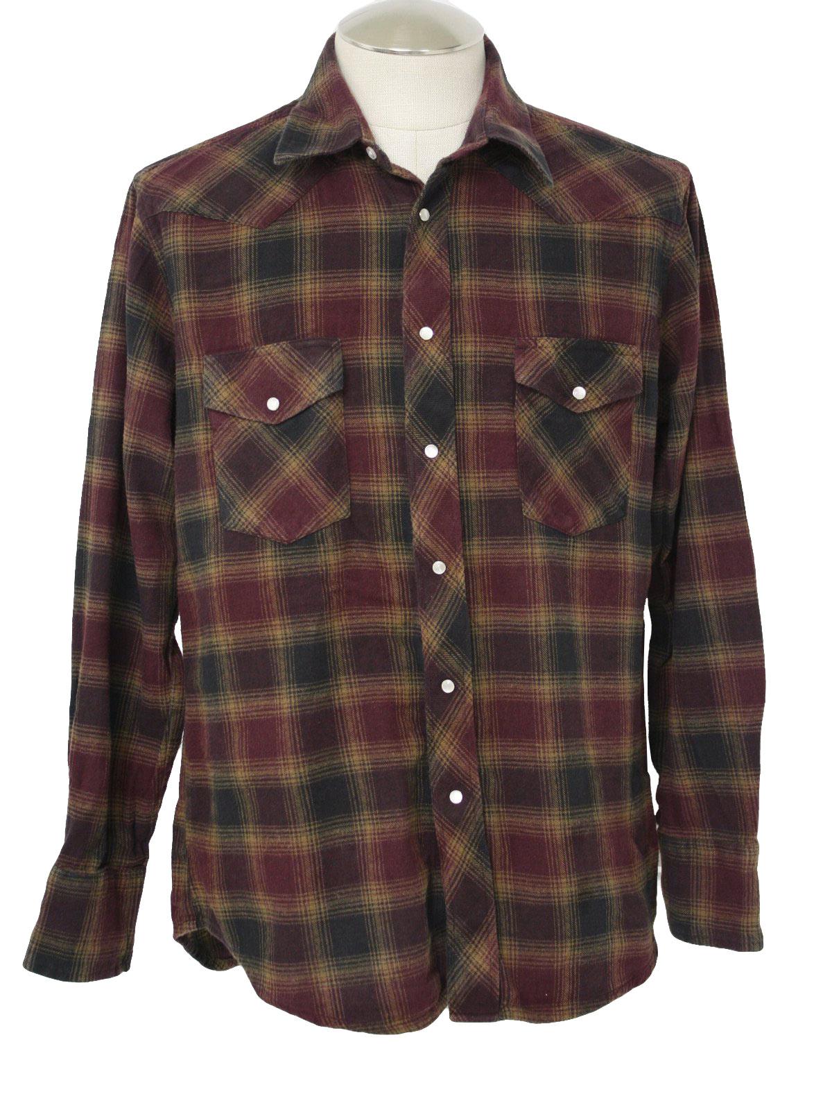 9b856fa15066e 90s Vintage Wrangler Western Shirt  90s -Wrangler- Mens maroon ...