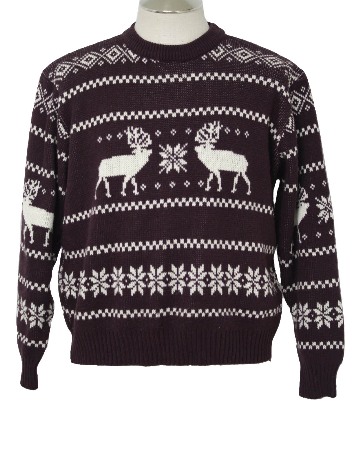 1980's Mens Christmas Ski Sweater: 80s Authentic vintage -The Mens ...