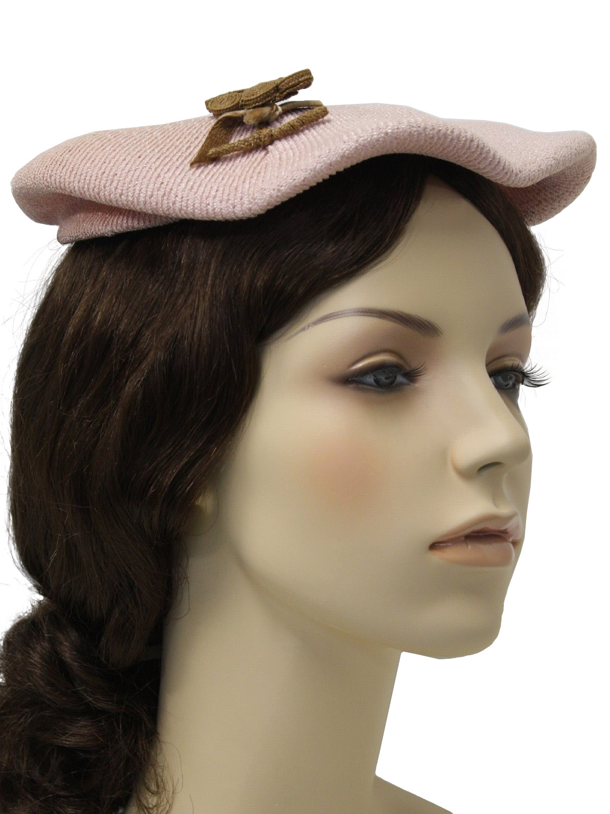 1940 s hat 40s womens stiff synthetic