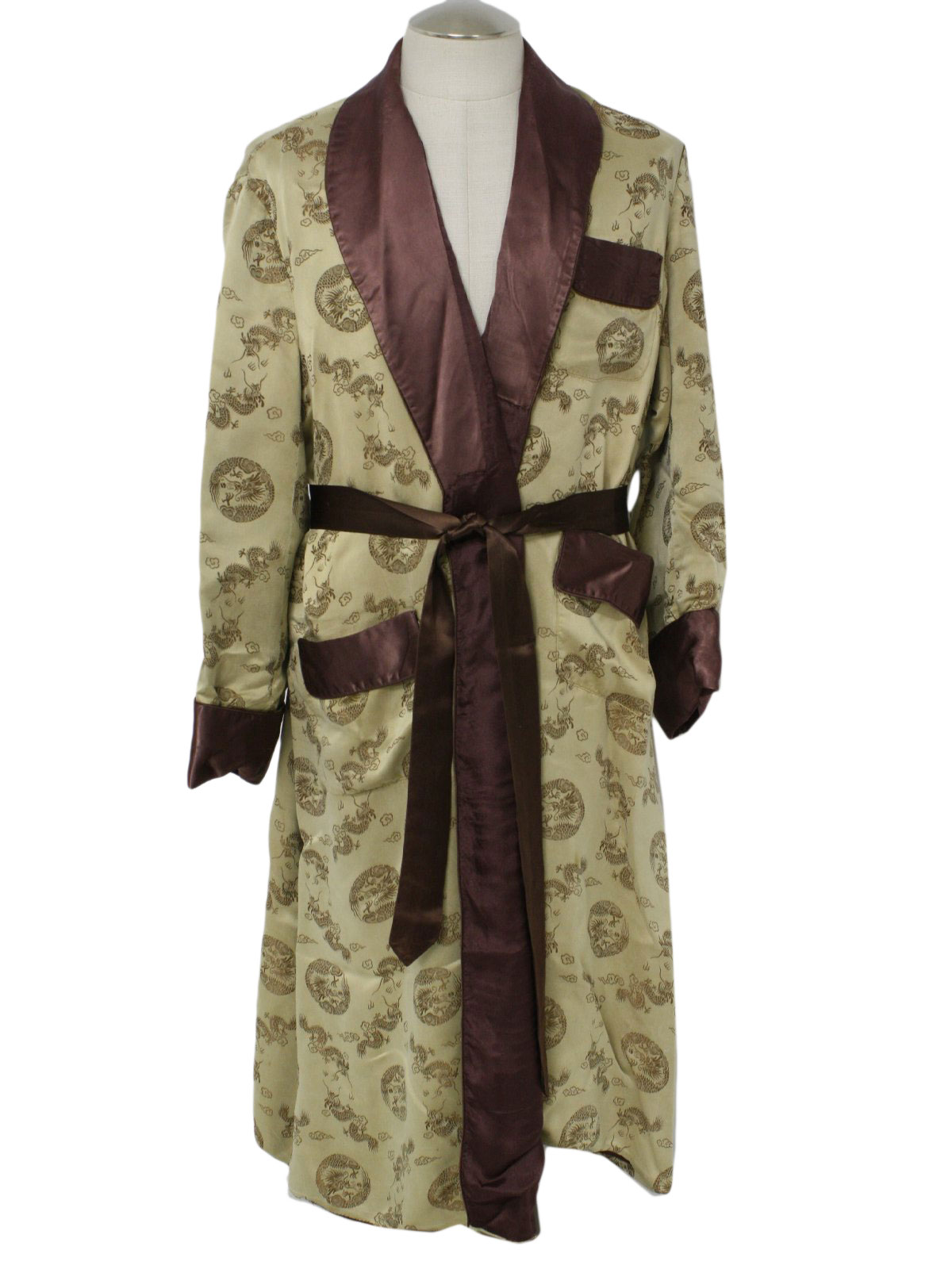 60s Vintage Longevity China Mens Robe Early 60s