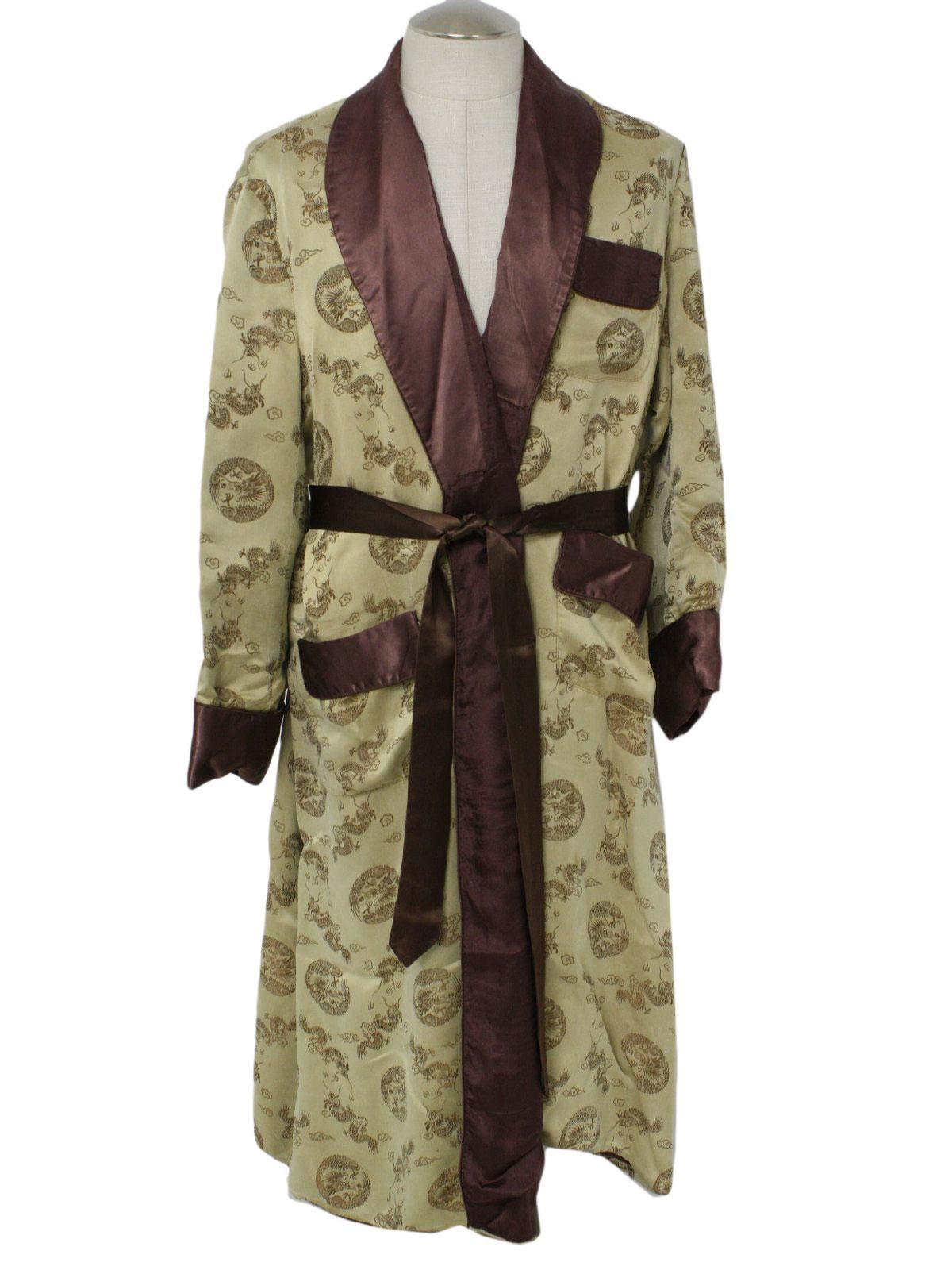 60s Vintage Longevity, China Mens Robe: Early 60s -Longevity, China ...