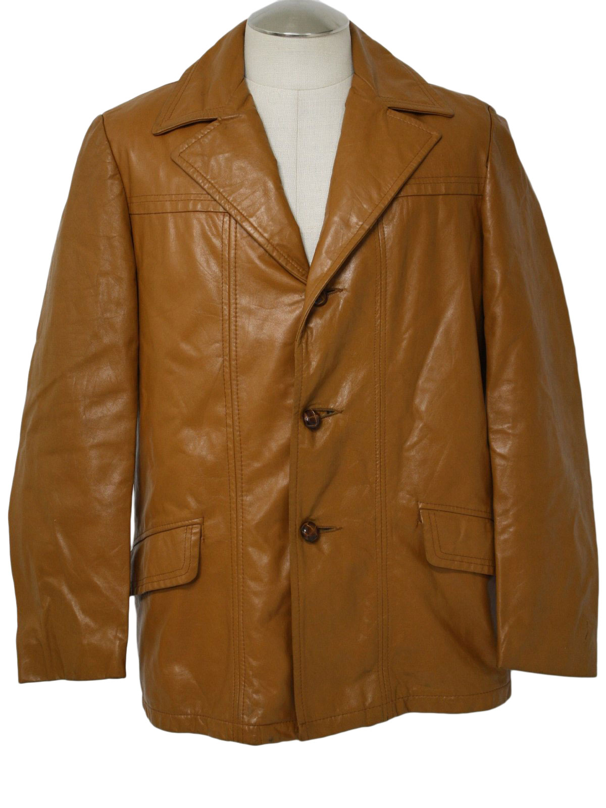 70&39s Vintage Leather Jacket: 70s -Trailmaster- Mens latigo tan