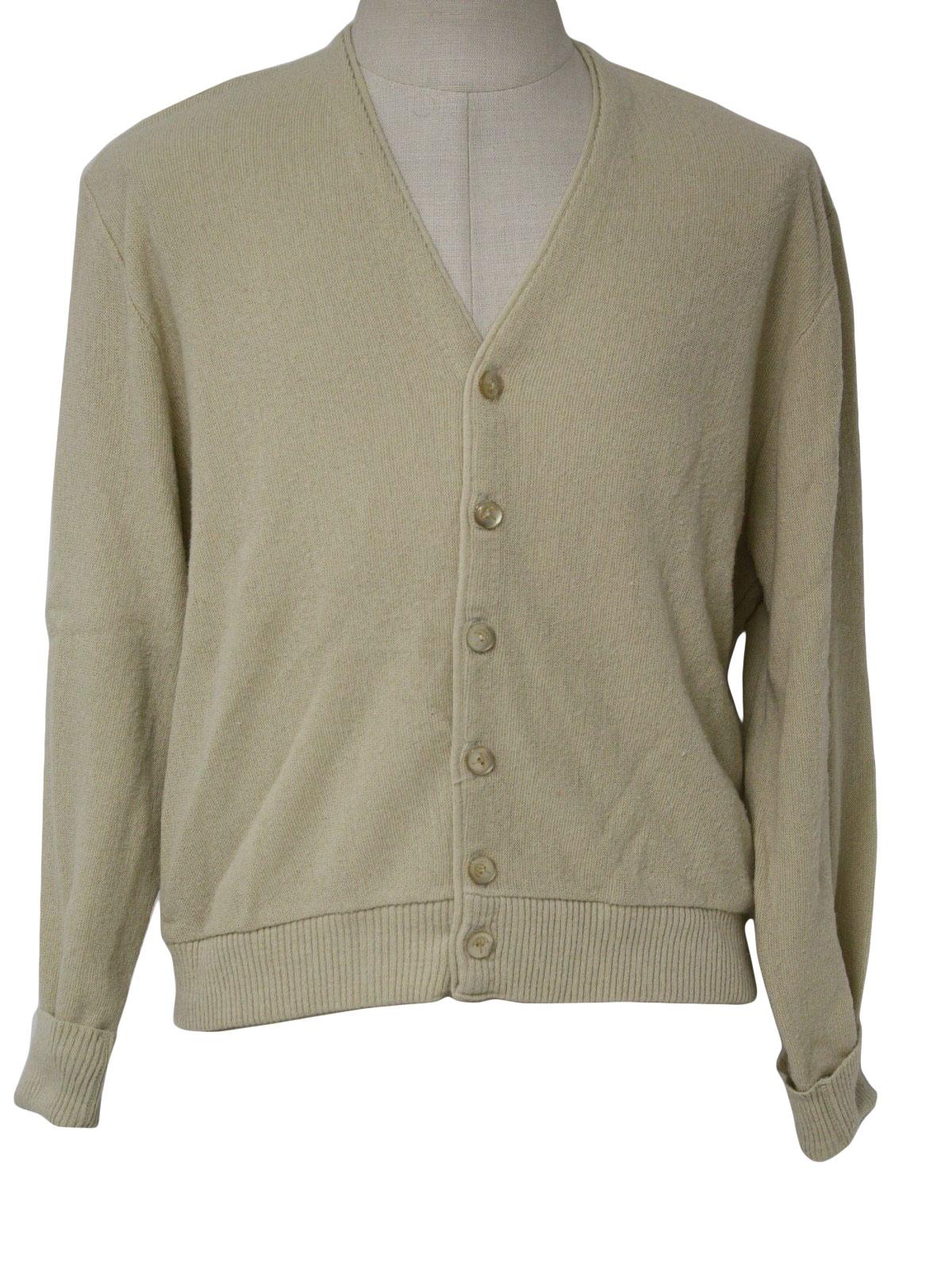 70s Caridgan Sweater Arnold Palmer Robert Bruce 70s