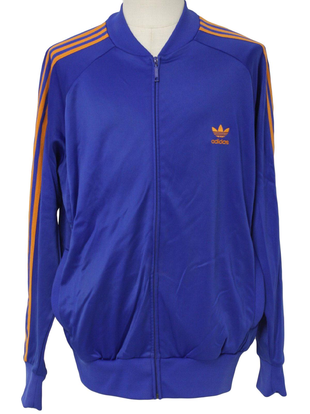 Vintage Adidas 80 S Jacket 80s Adidas Mens Blue And Orange Nylon