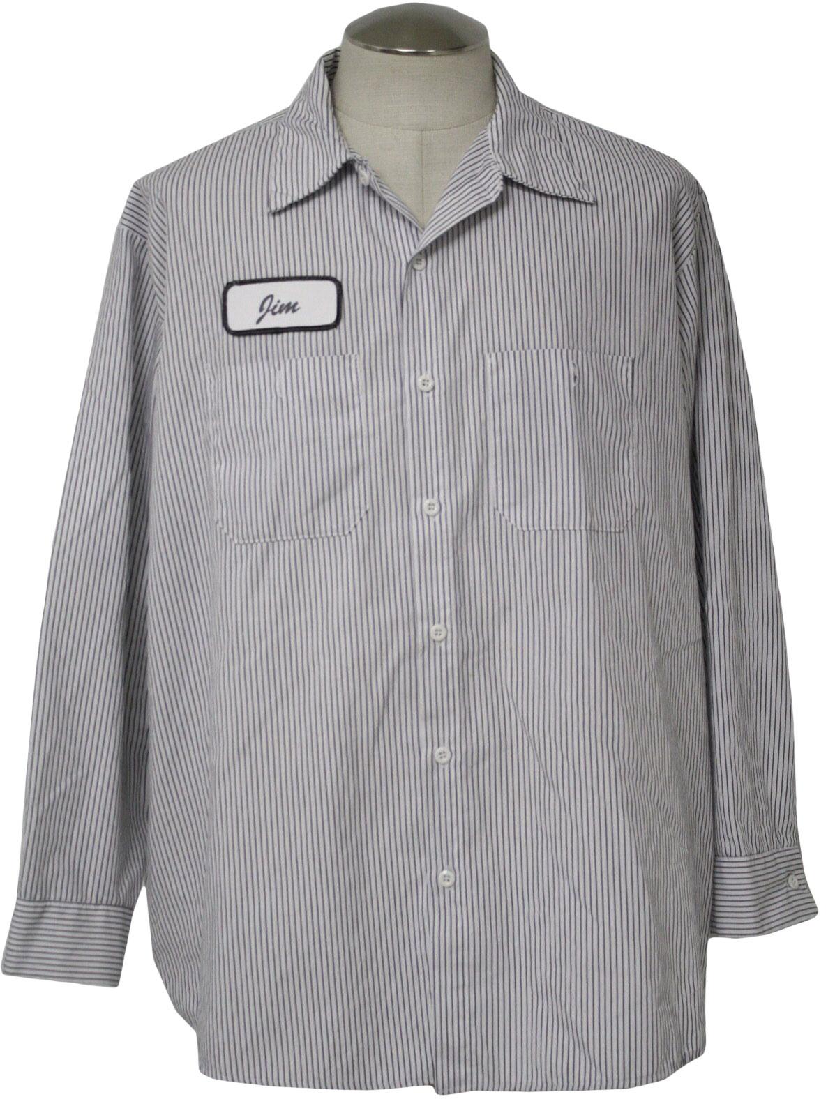 80's Vintage Shirt: 80s -Red Kap- Mens white with grey ... | 1197 x 1596 jpeg 311kB