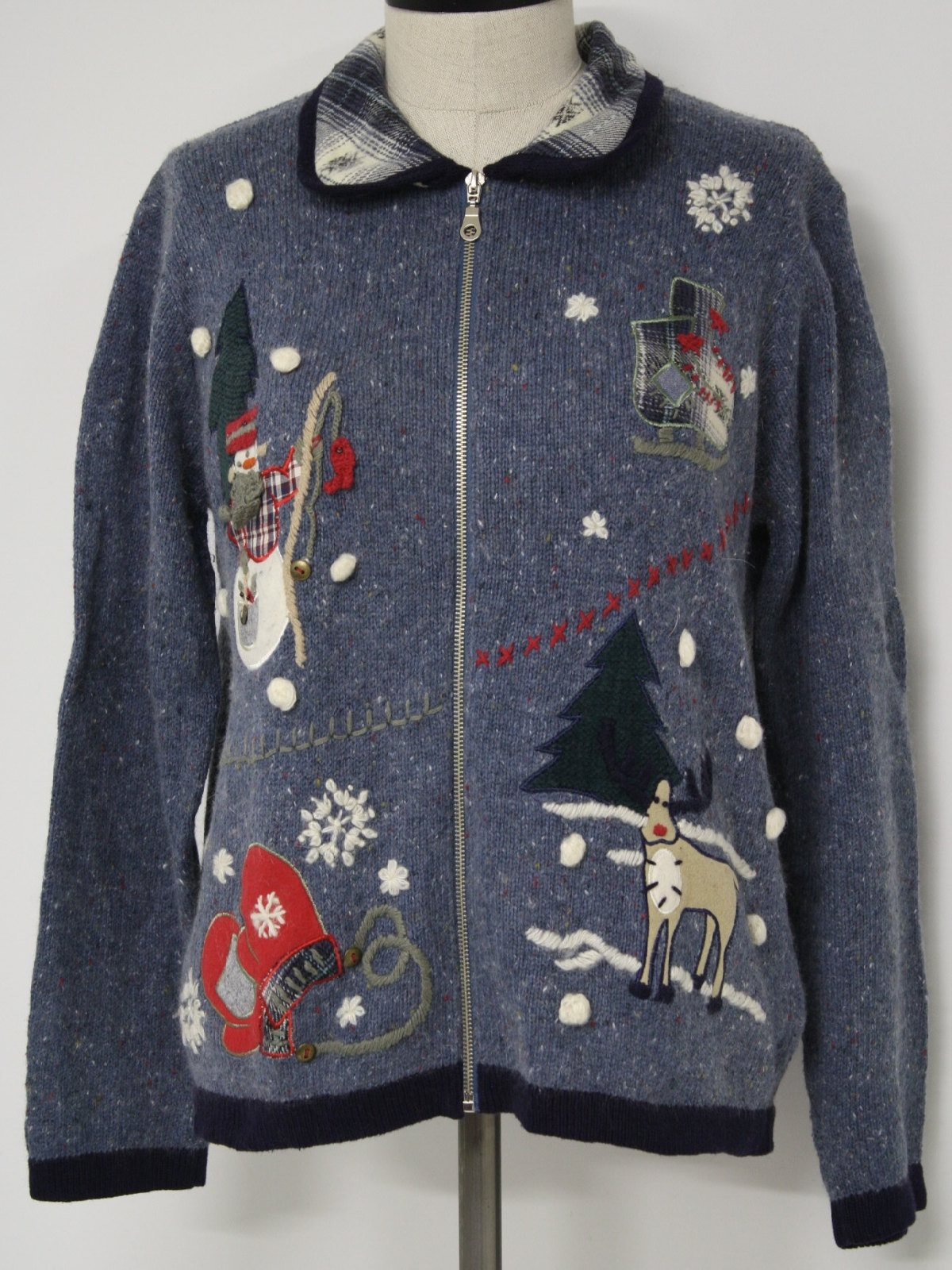 Womens ugly christmas sweater nutcracker womens shaded for Fishing christmas sweater