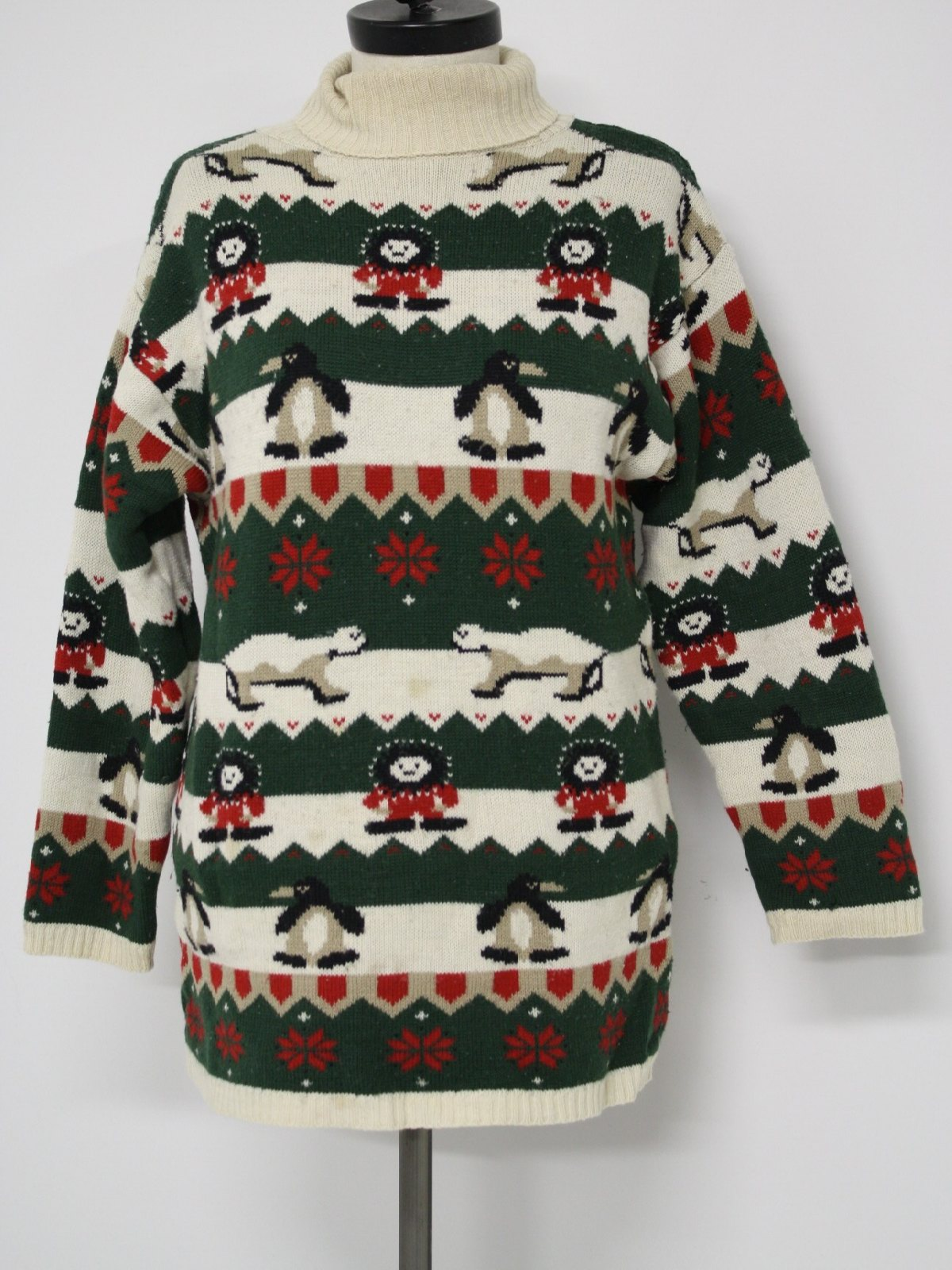 Womens Ugly Christmas Sweater: -Prides Landing- Womens off-white ...