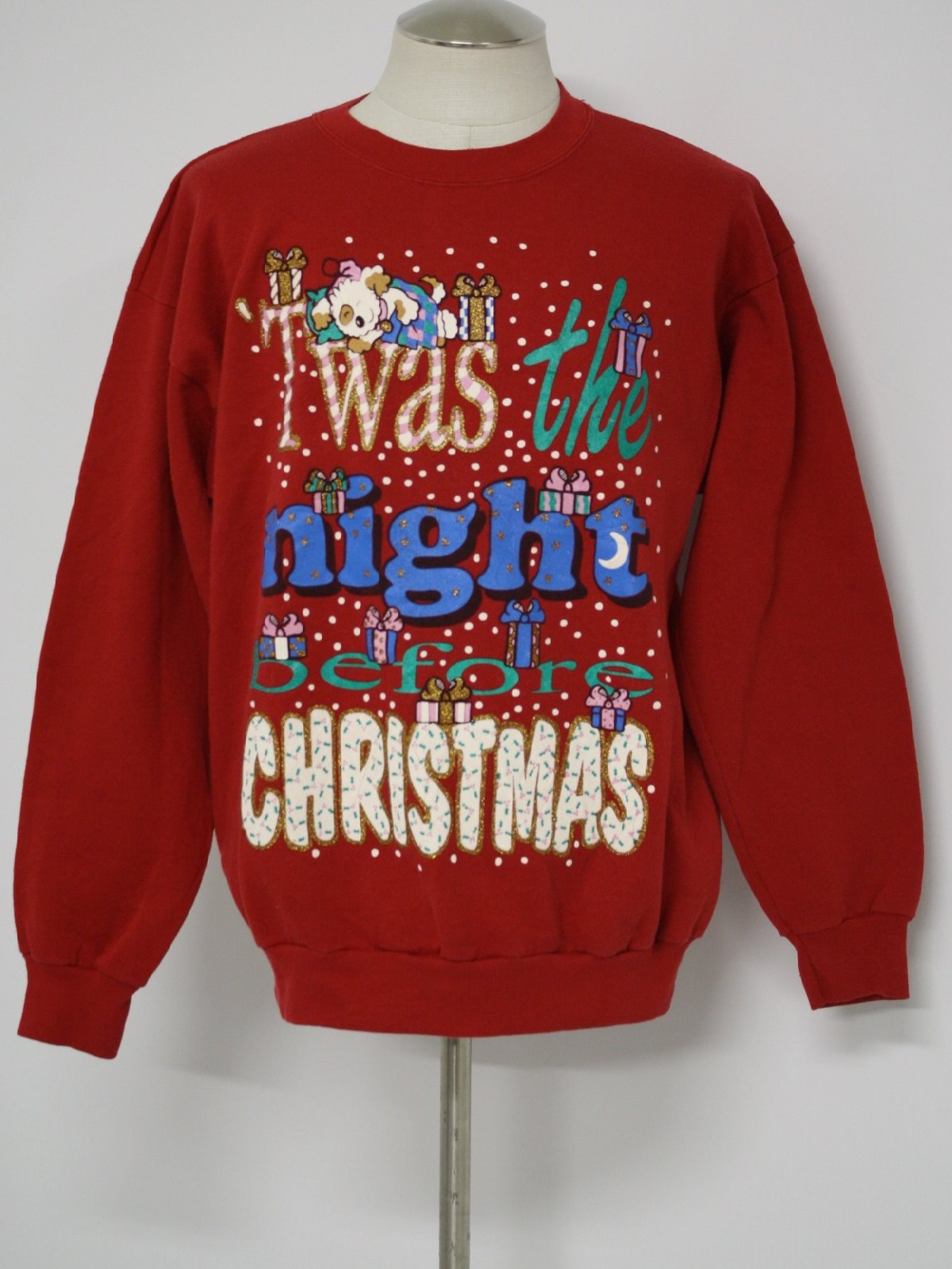 Ugly Christmas Sweatshirt Bjs Womens Red White Blue Green
