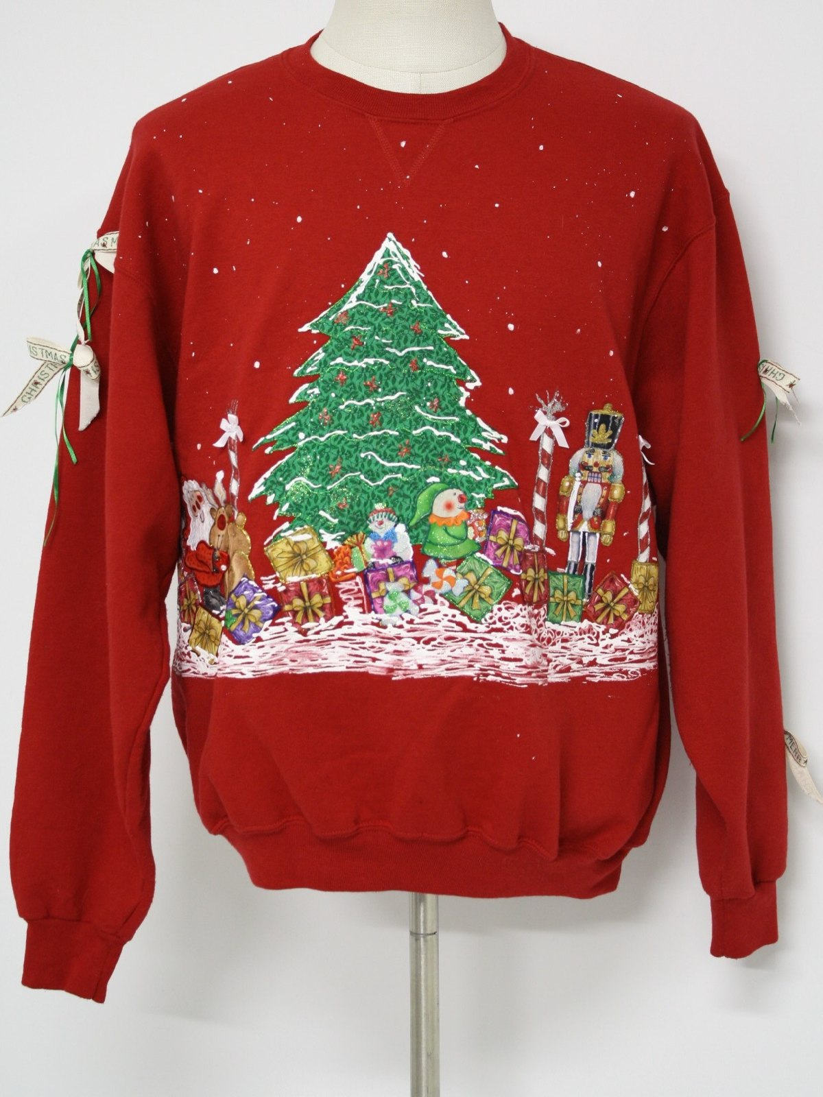 Ugly Christmas Sweatshirt Fruit of the Loom Unisex red