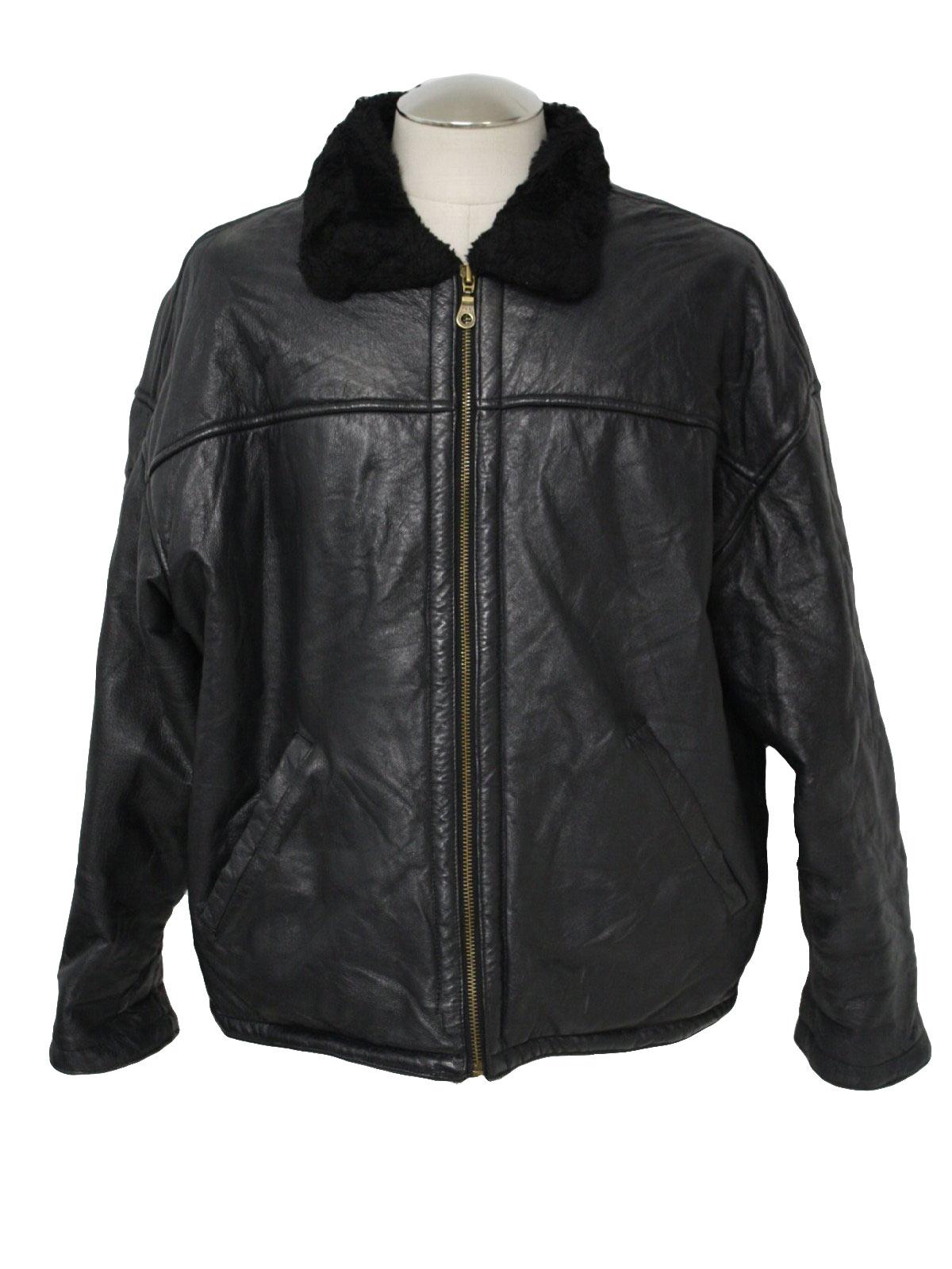 Western style leather stitching furry jacket