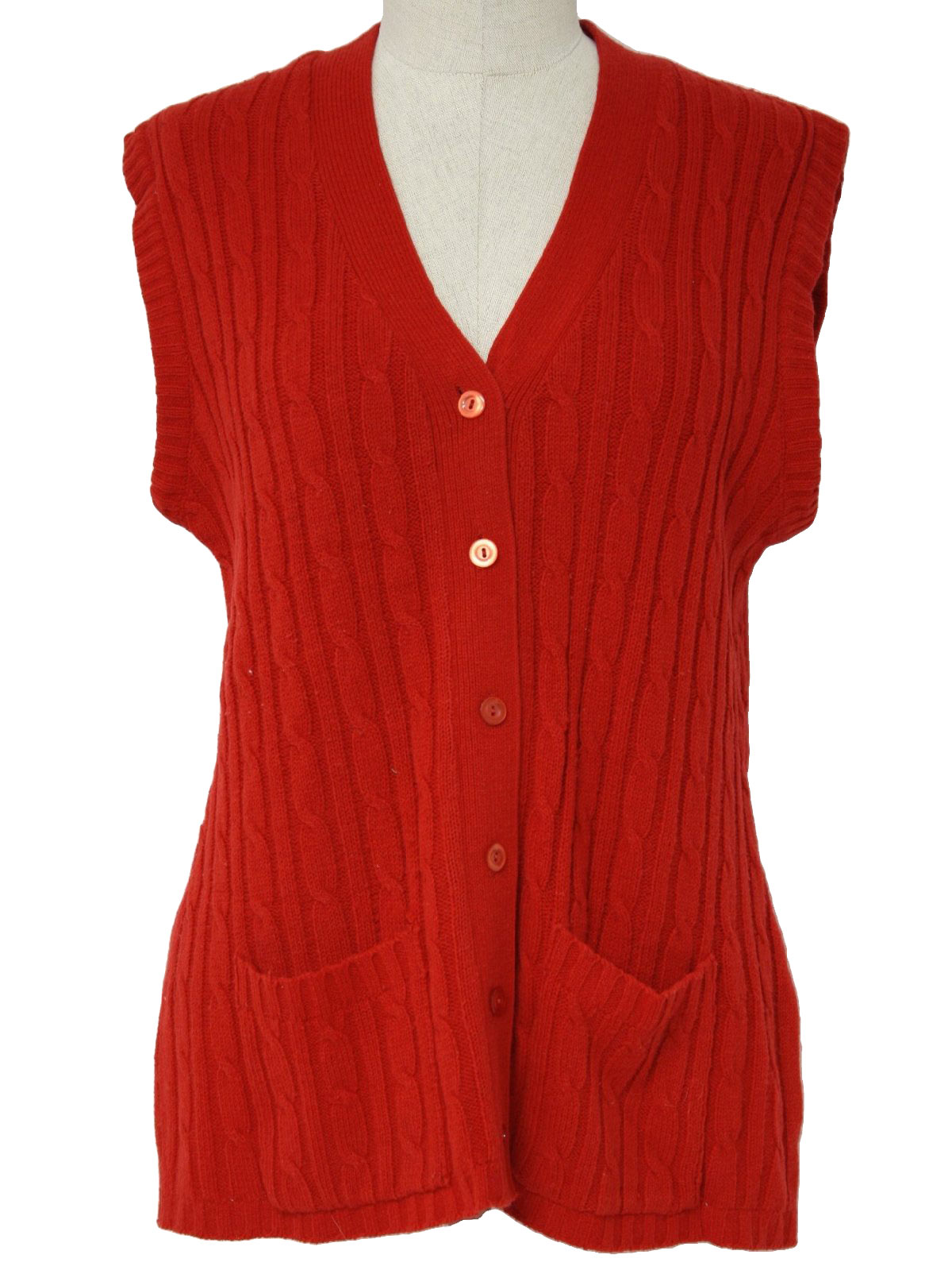70s Caridgan Sweater (Montgomery Ward): 70s -Montgomery Ward ...