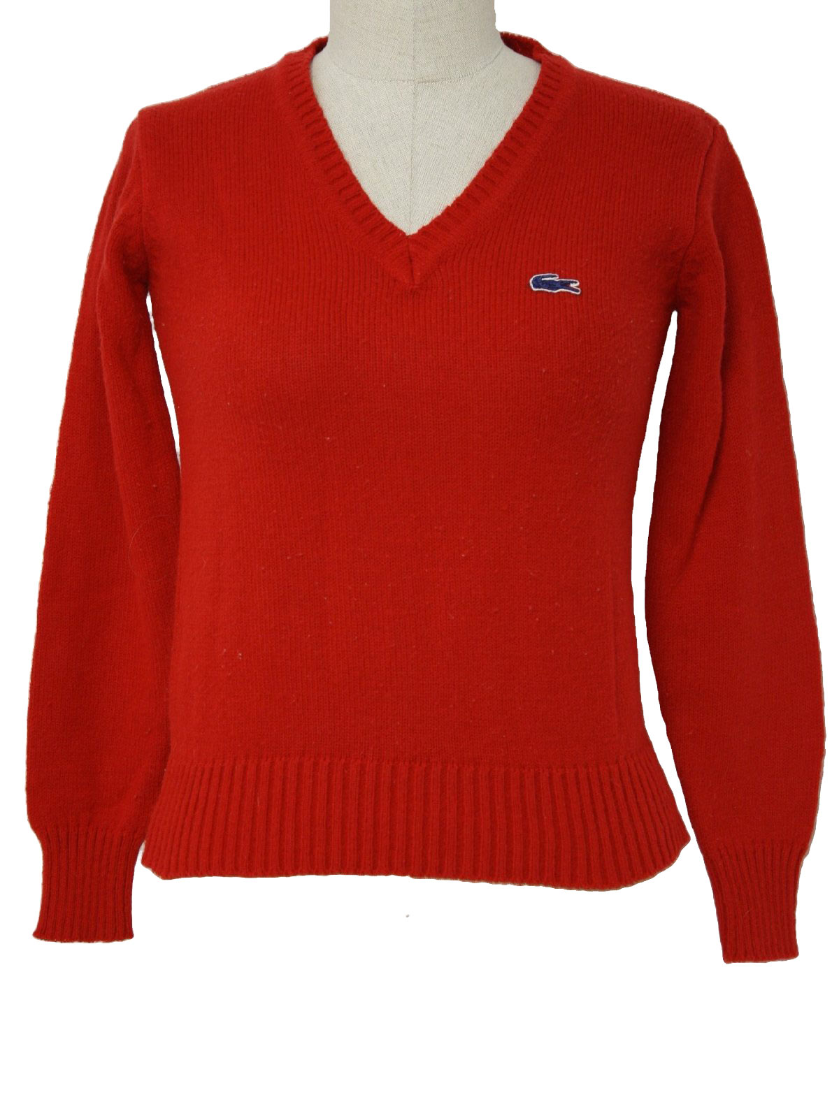 Eighties Vintage Sweater: 80s -Izod- Womens red acrylic pullover ...