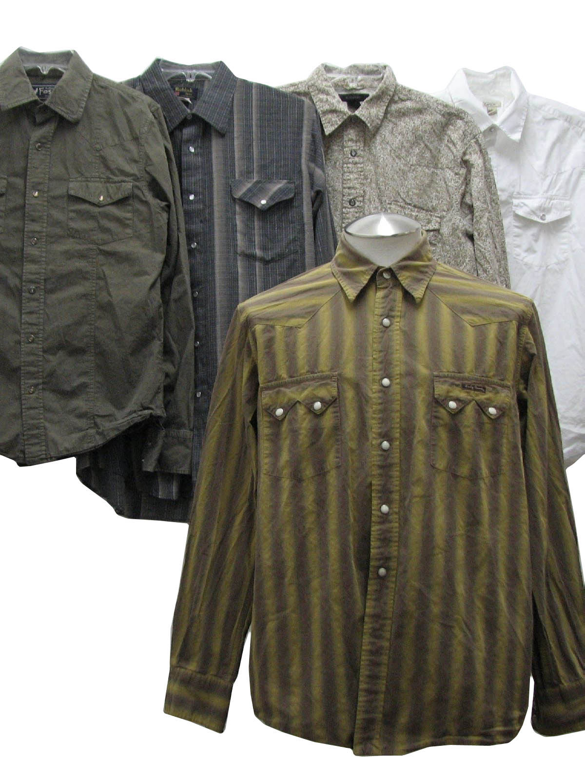 1980s Vintage Western Shirt Lot Of Qty 5 Wholesale Mens