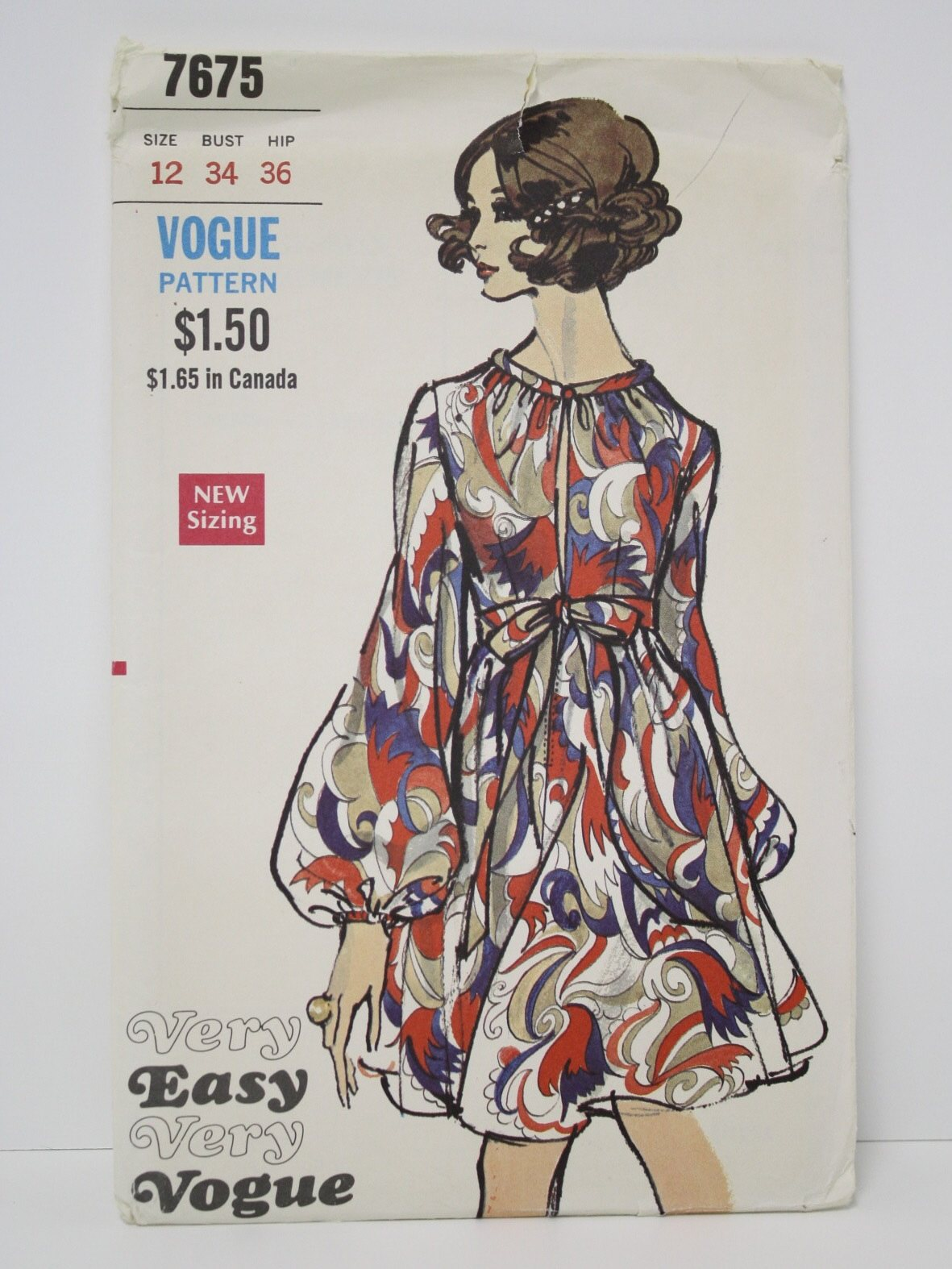1970s Vintage Sewing Pattern 1971 Vogue Pattern No 7675