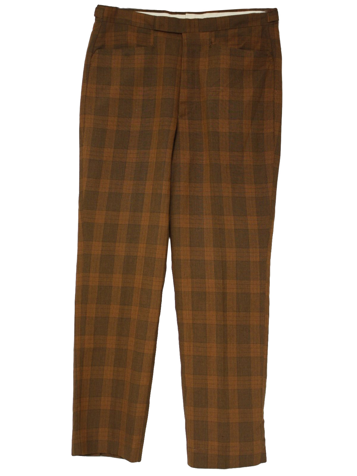 1960's Vintage Farah Pants: 60s -Farah- Mens rust and brown cotton ...