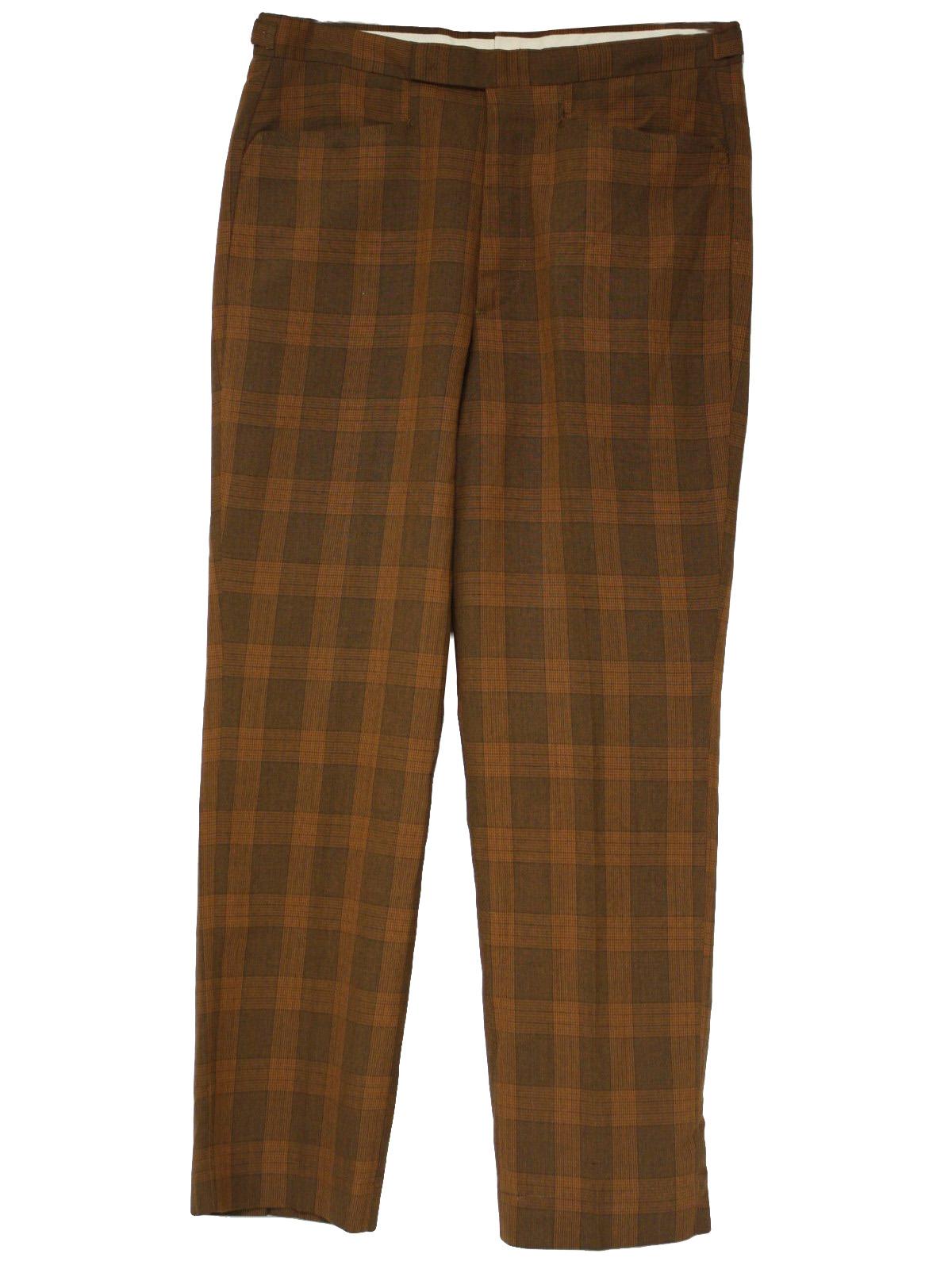 8b1d6be2 1960's Farah Mens Mod Plaid Pants