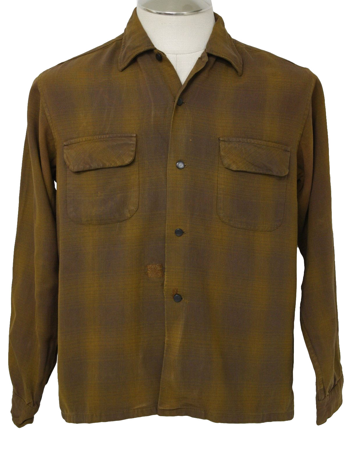 National Shirt Shops 50's Vintage Gabardine Shirt: 50s -National ...