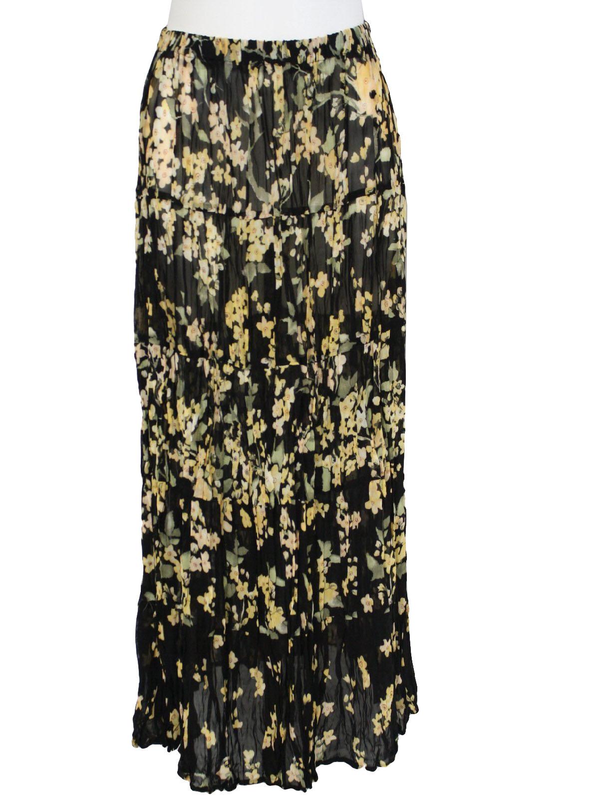 vintage carole little designer 90s hippie skirt 90s