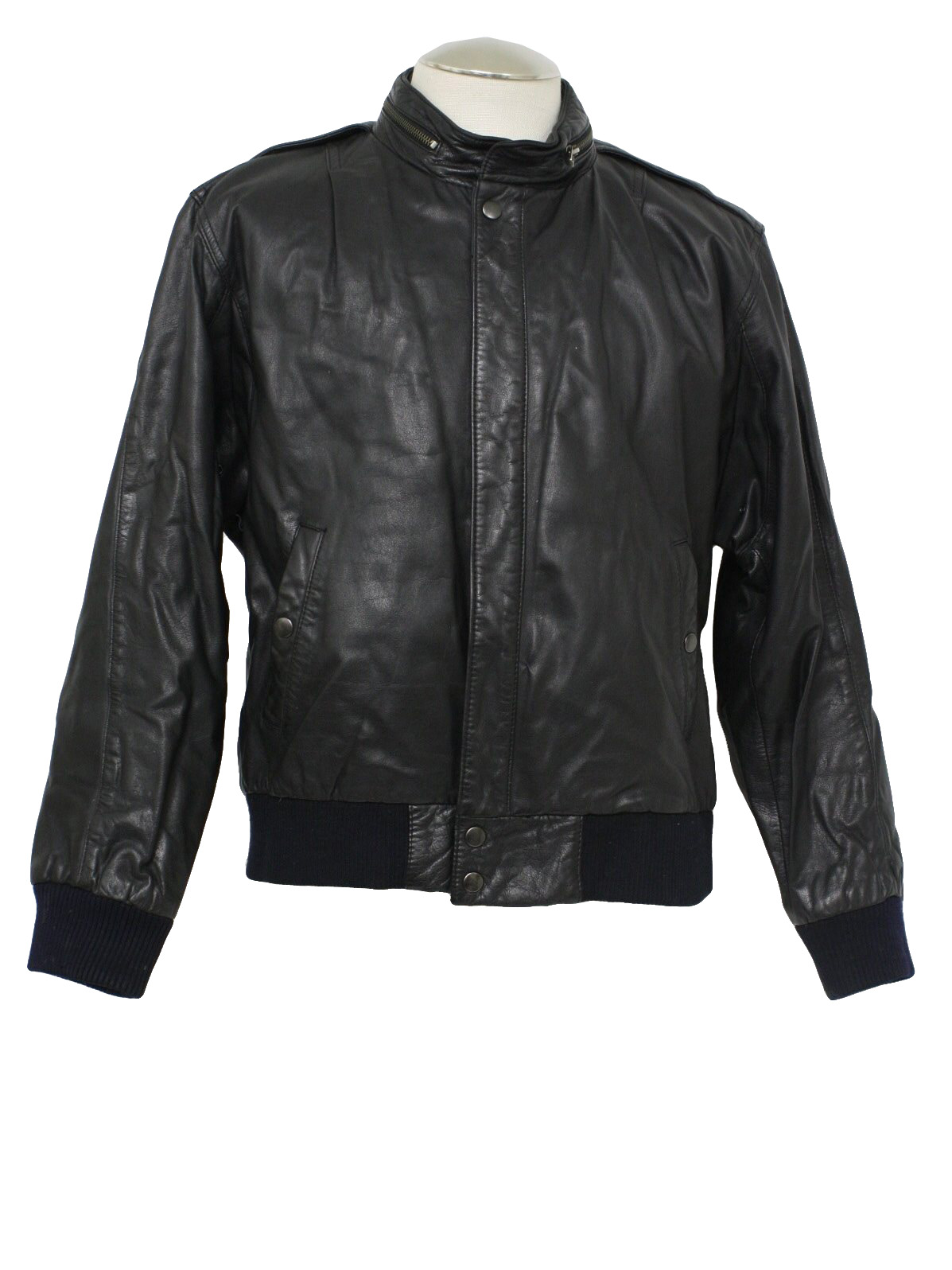 Worn out leather jacket