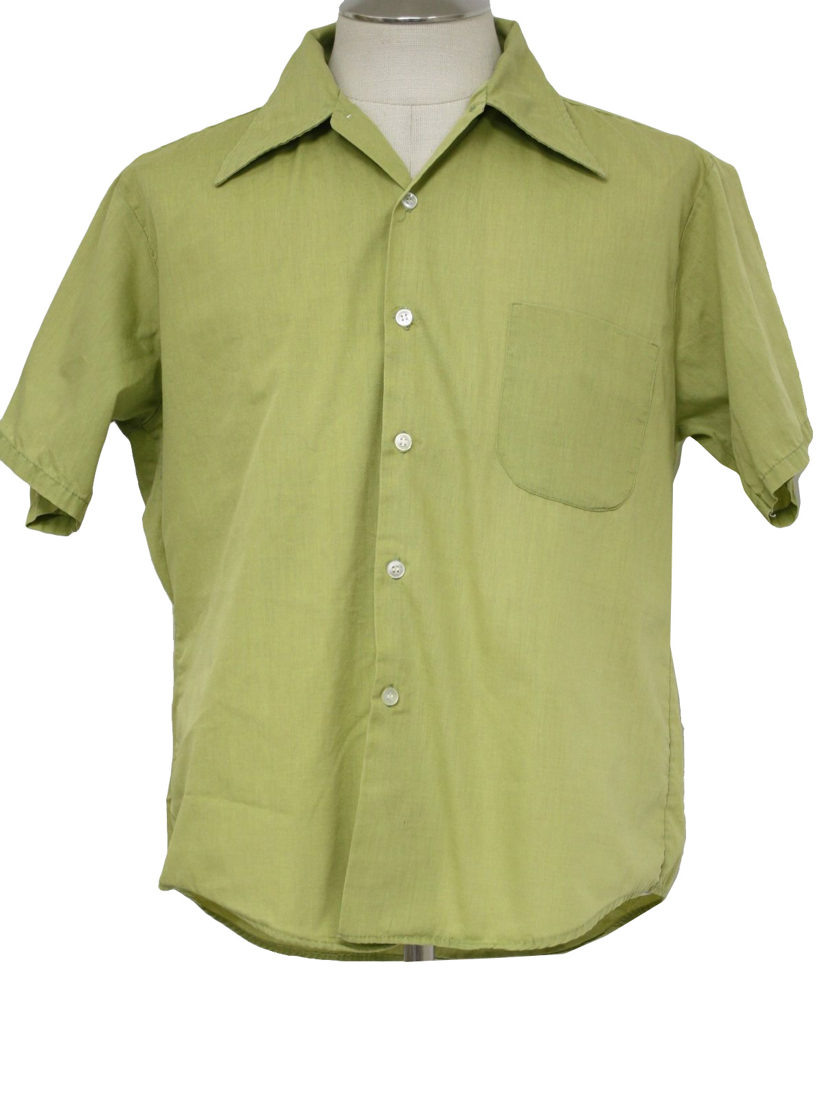 70s Retro Shirt 70s Made In Jamaica Mens Lime Green Cotton