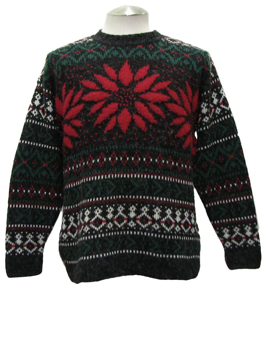 Mens Festive President Obama Tacky Christmas Sweater