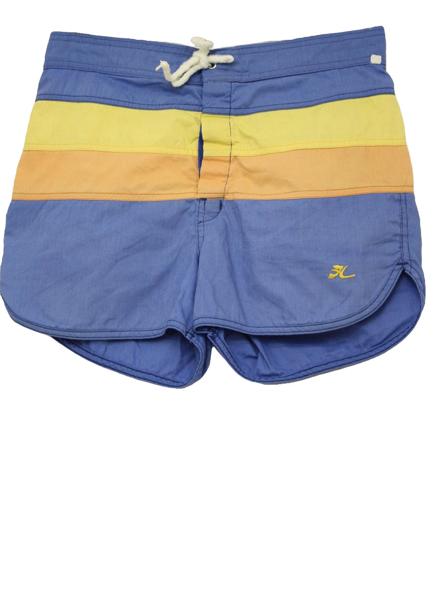 6d324d3dec6da Retro 80s Swimsuit/Swimwear (Hobie) : 80s -Hobie- Mens blue, yellow ...