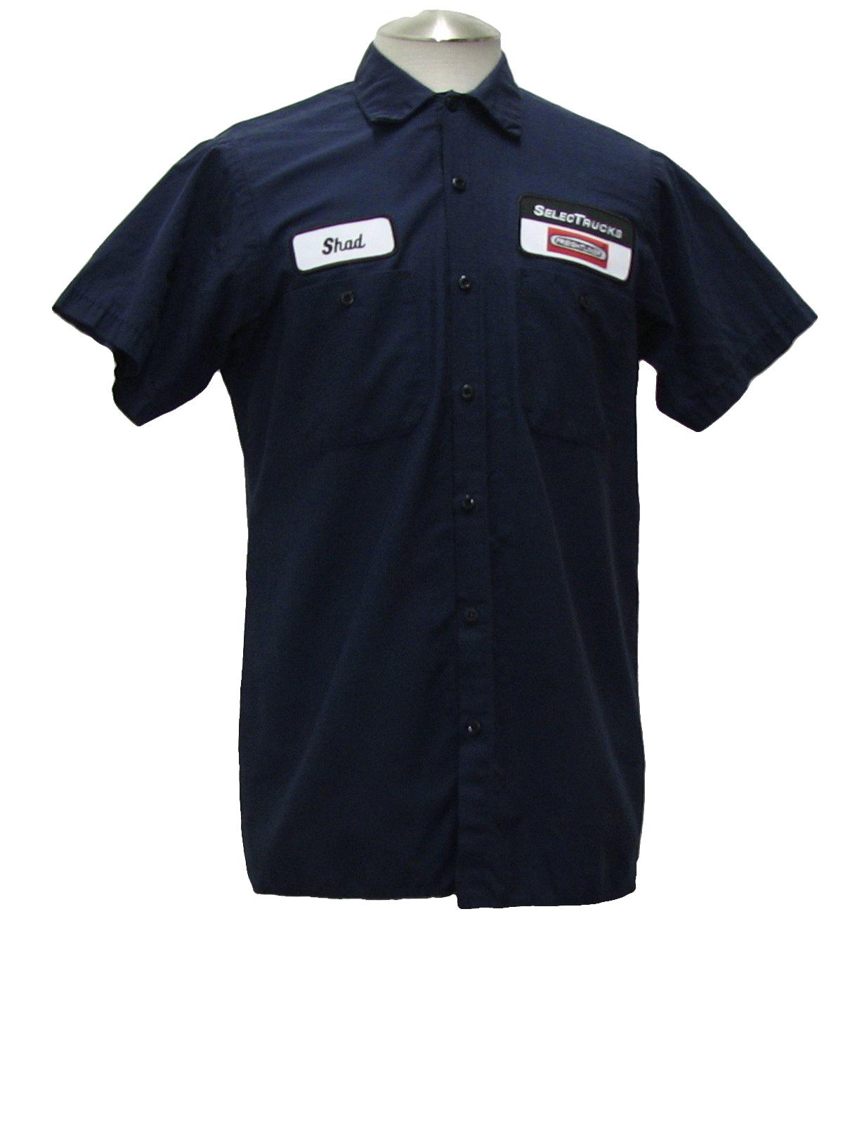 90s Shirt Cintas 90s Cintas Mens Navy Blue Cotton
