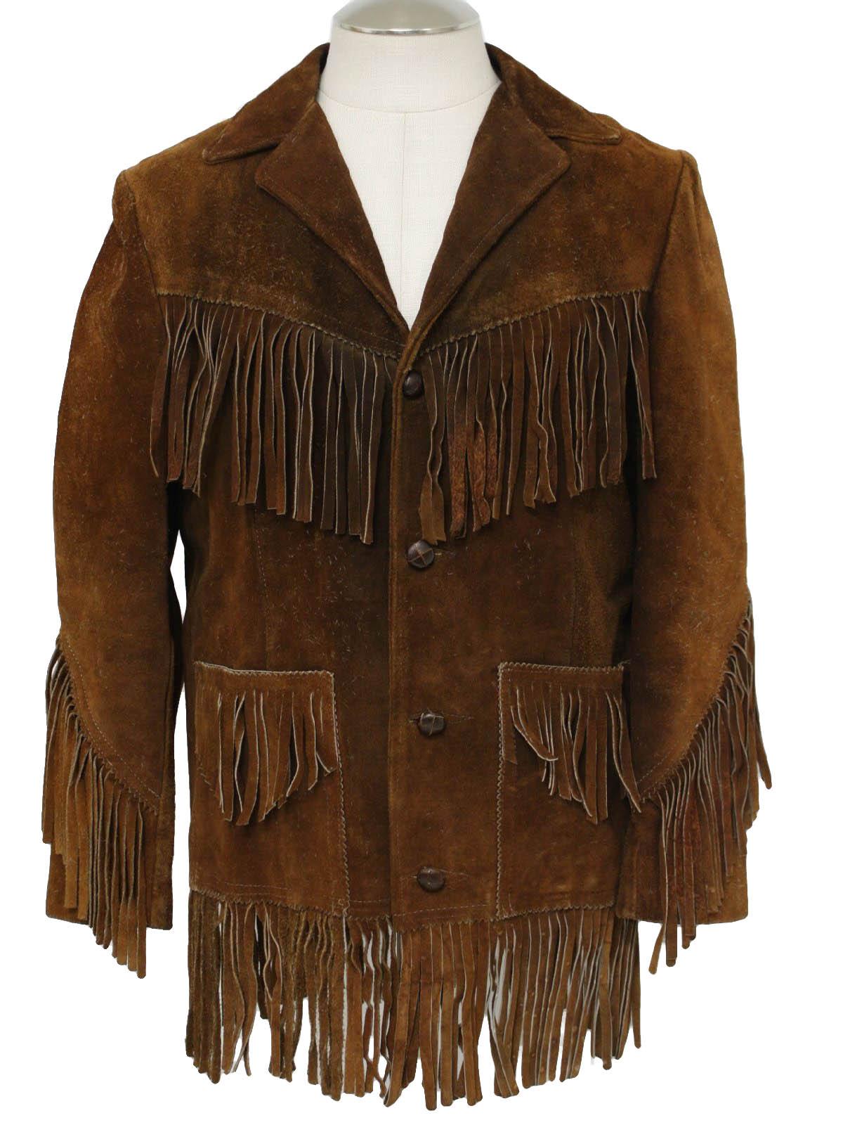 Bufalo 1960s Vintage Leather Jacket 60s Bufalo Mens