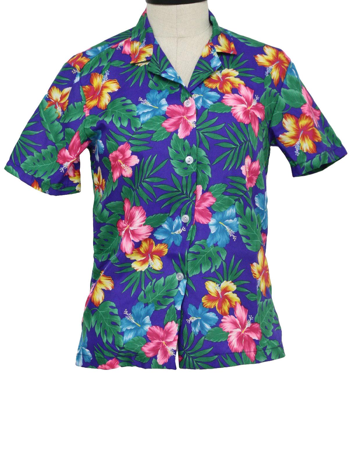 Vintage 1980 39 S Hawaiian Shirt 80s L Hawaii Designs