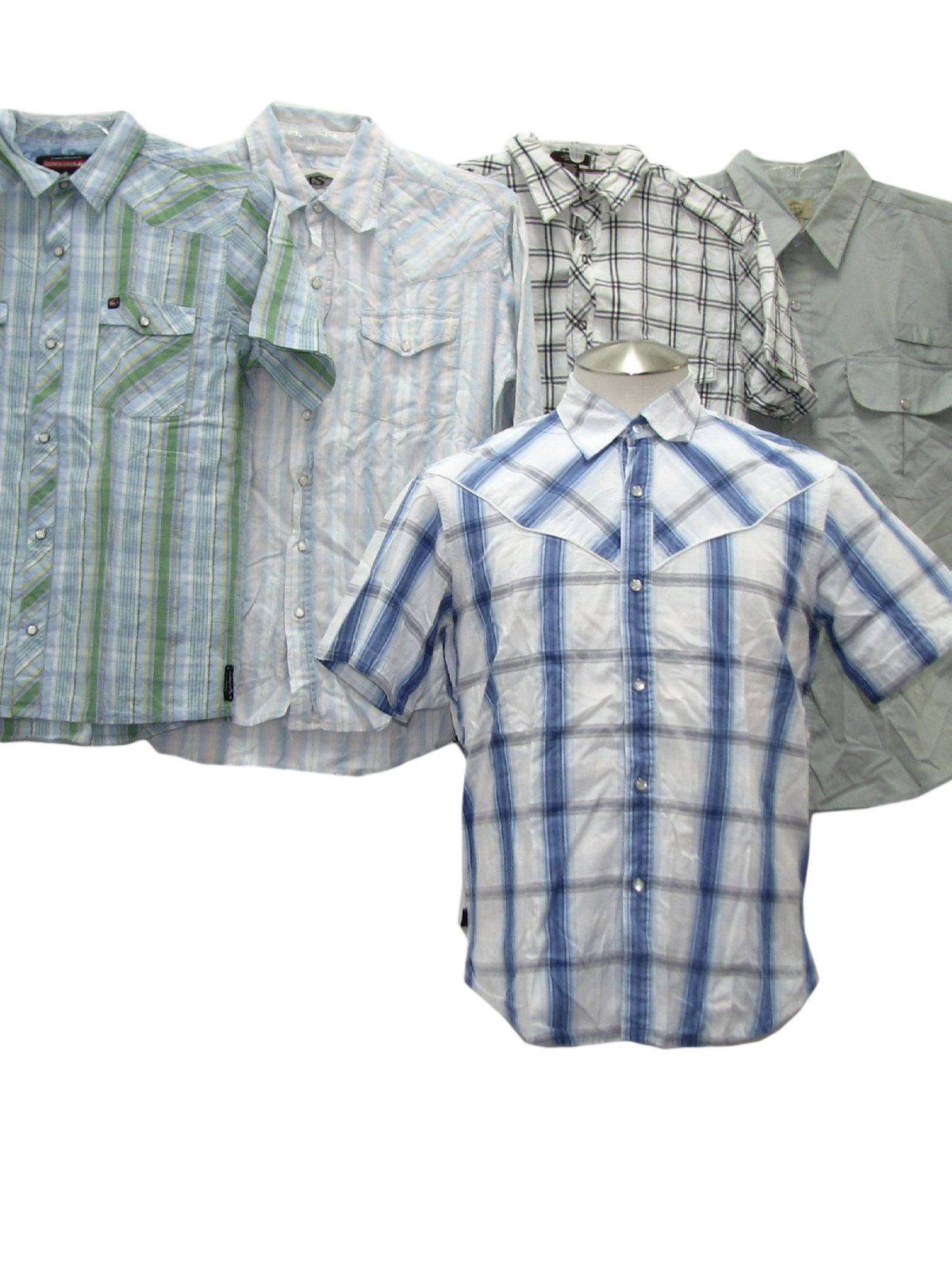 1990 39 S Retro Western Shirt Lot Of Qty 5 Wholesale Mens