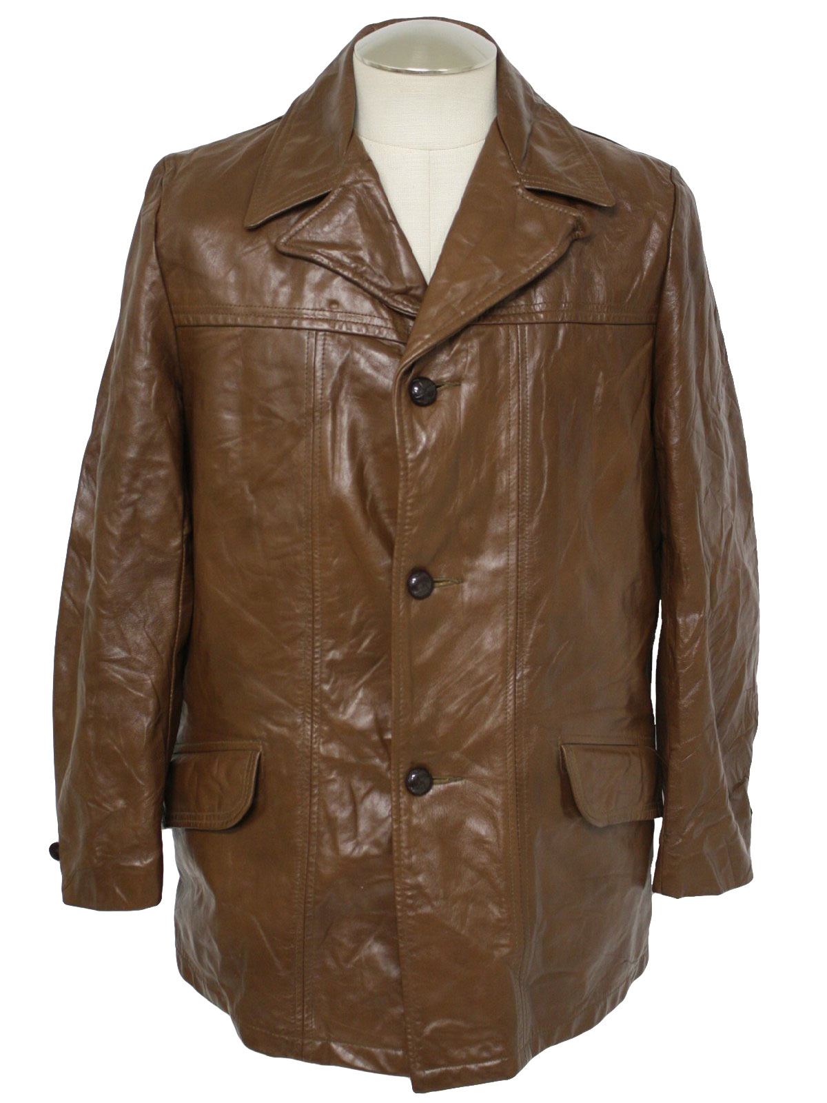 1970's Made in USA Mens Leather Car Coat Style Jacket $68.00 Not in stock. Item No. 176396