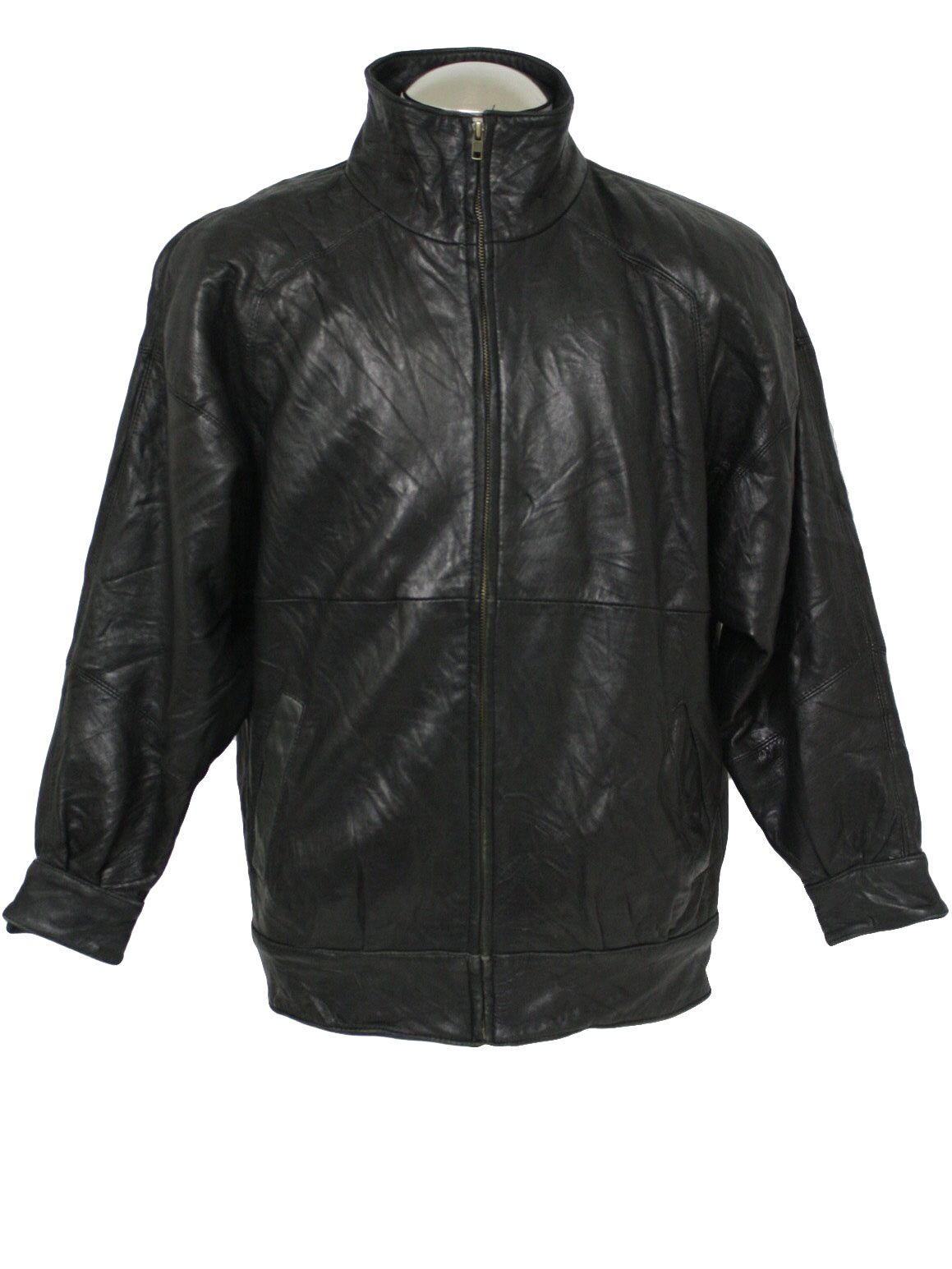 Eighties Nordstrom Leather Jacket: 80s -Nordstrom- Mens black soft