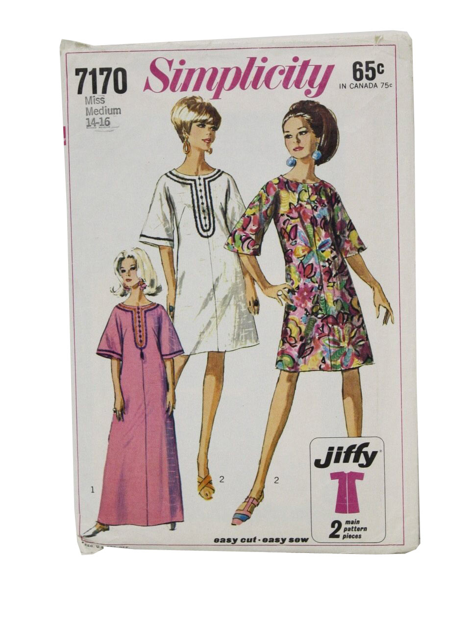 1960\'s Vintage Simplicity Sewing Pattern: 60s -Simplicity- 7170 ...