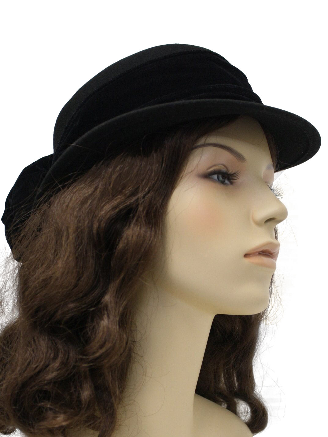 1980s top this hat 80s top this womens black felted