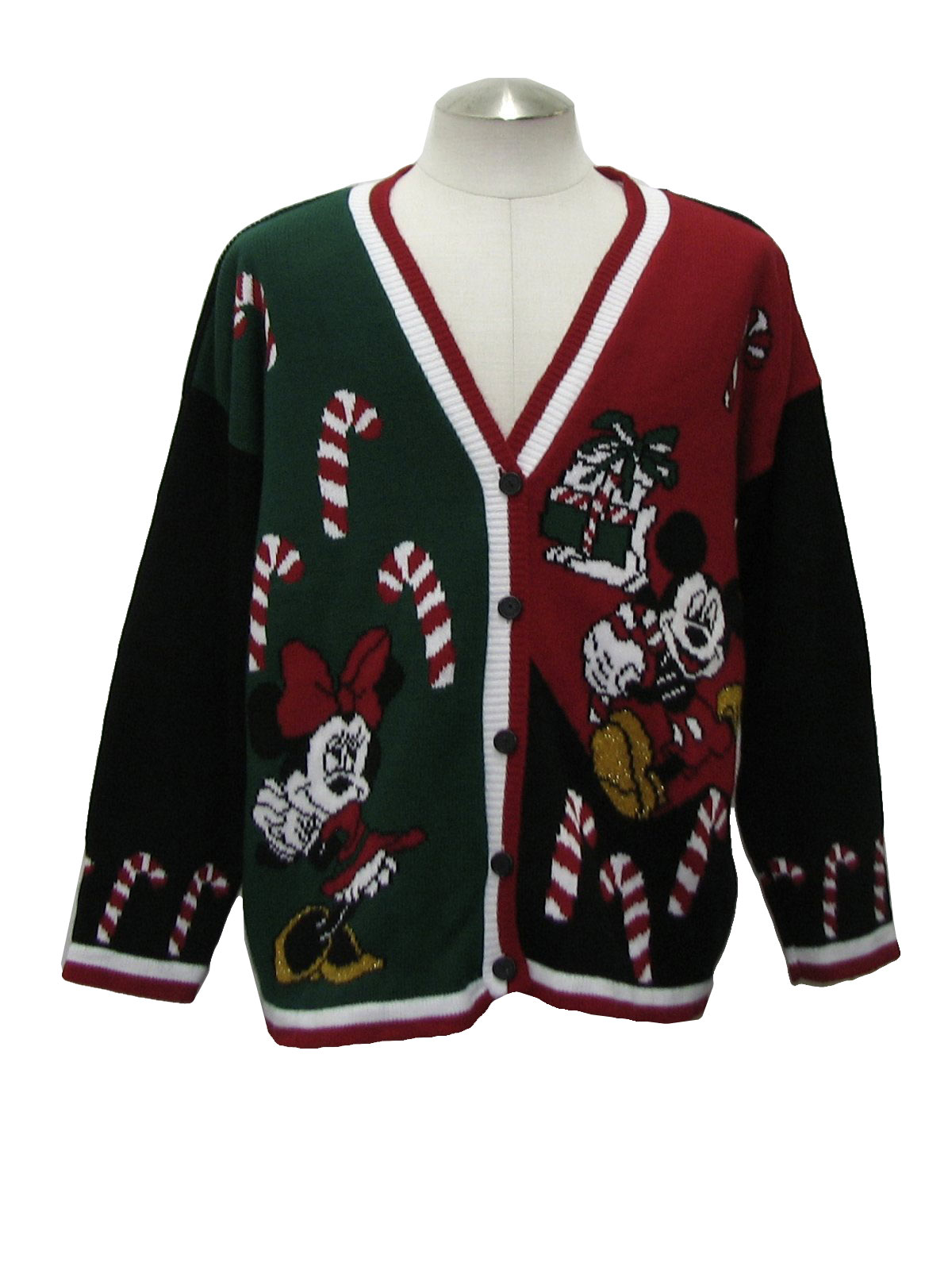 80's Vintage Ugly Christmas Sweater: 80s -Mickey- Unisex black ...