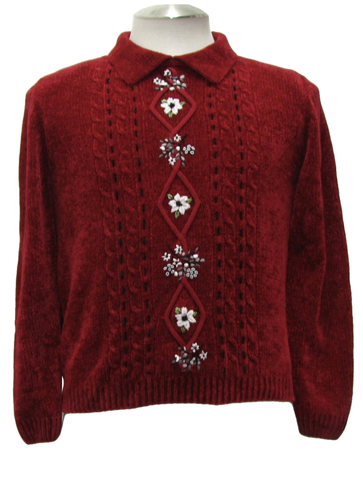 Sweater With Collar Womens