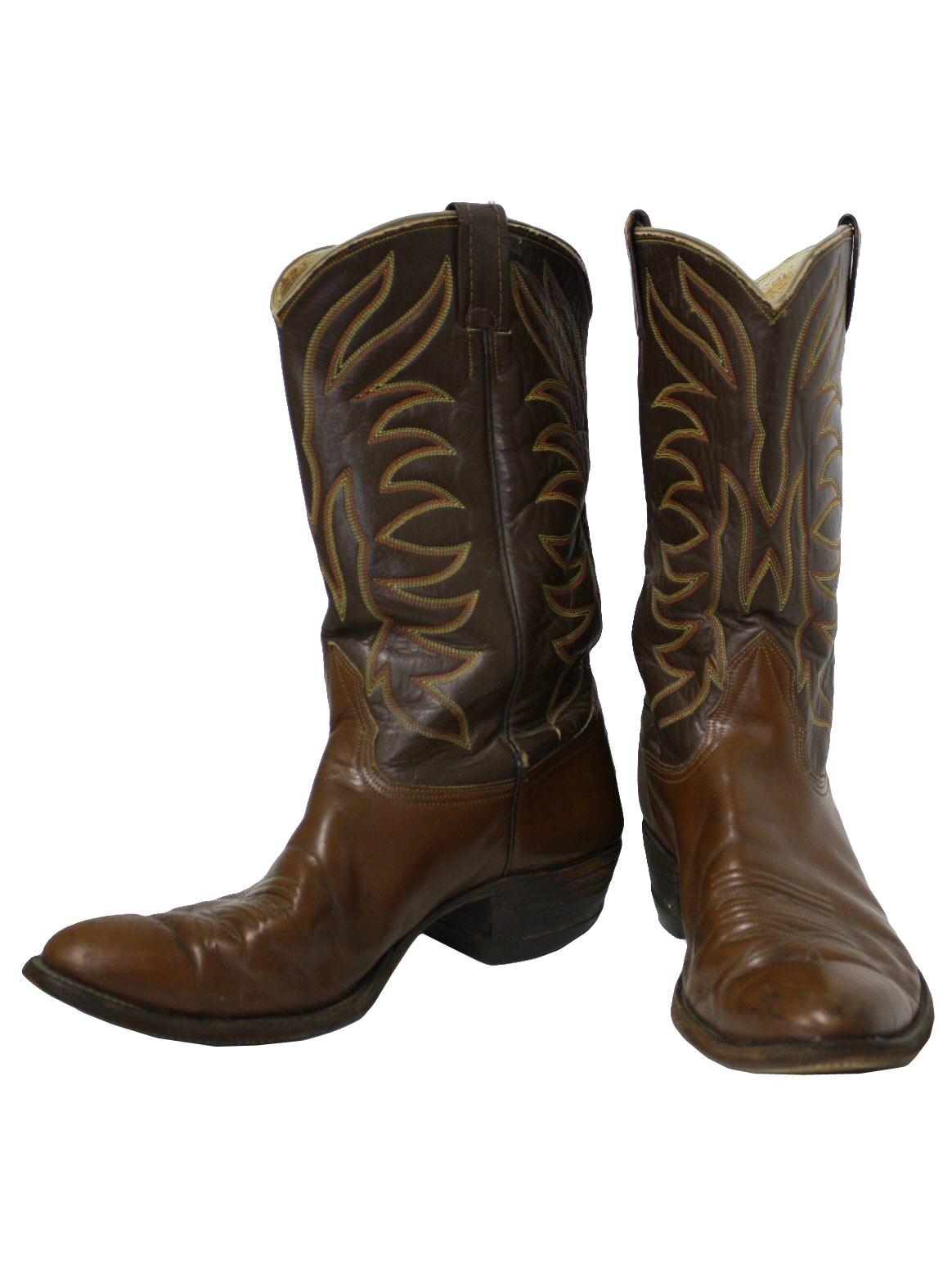 80s retro shoes 80s nocona mens brown leather cowboy