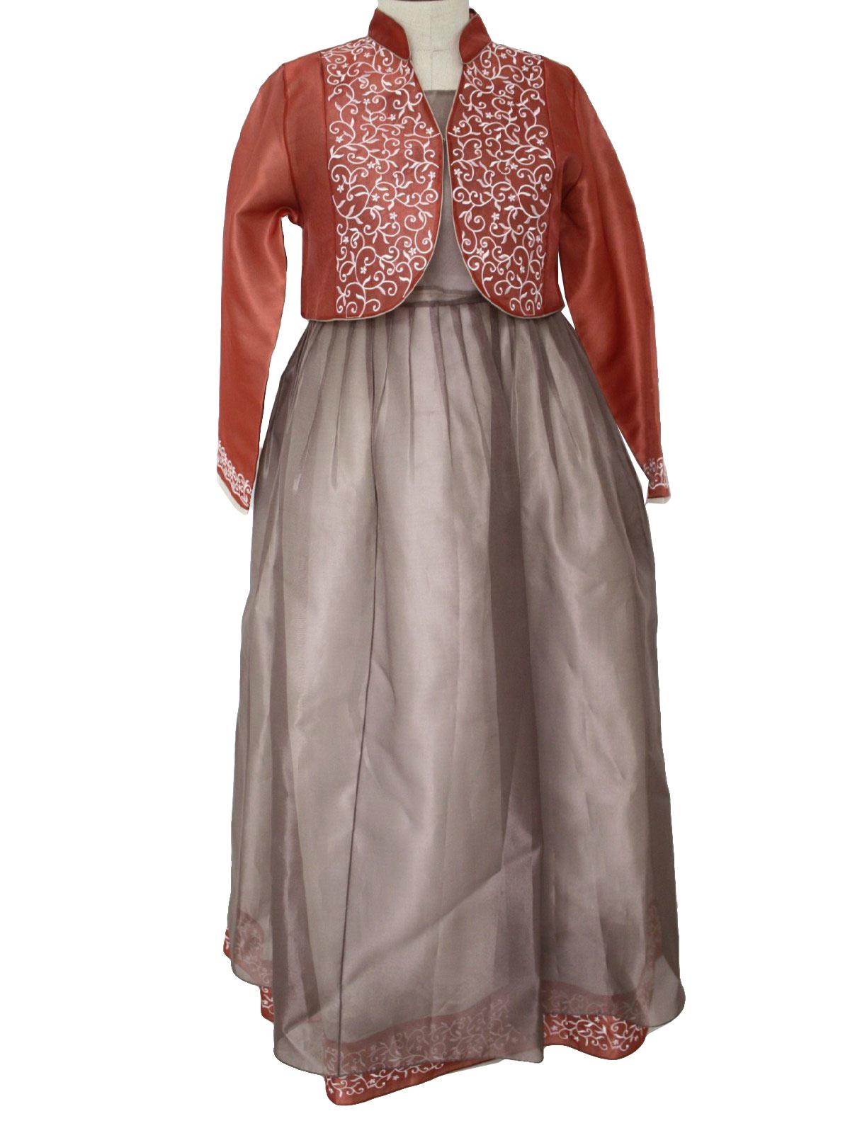 Label- Womens polyester organza, sleeveless, floor length dress ...
