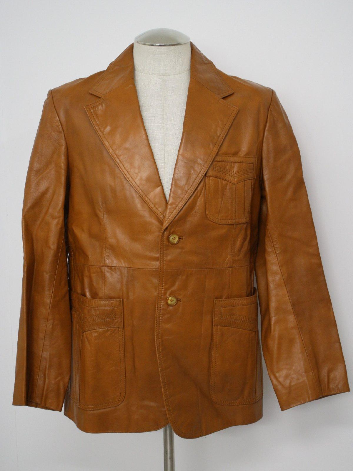 e64e2cf6c90 Retro 70s Leather Jacket (Pioneer Wear)   70s -Pioneer Wear- Mens ...