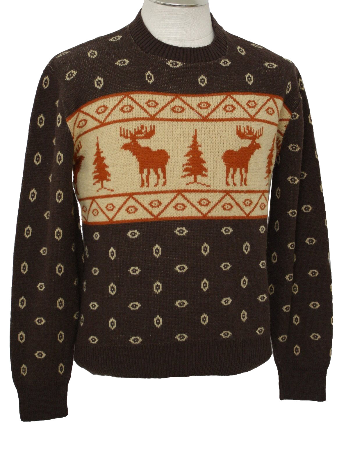 Mens Christmas Themed Ski Sweater: 40s style (made in 70s ...