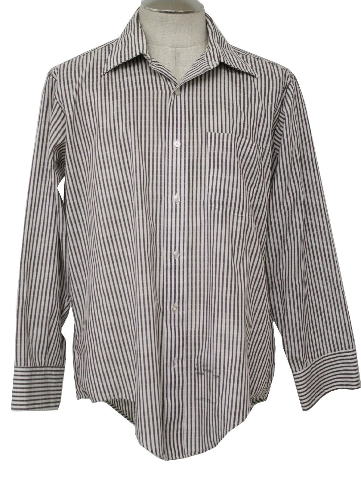 1960s retro shirt late 60s golden vee mens brown