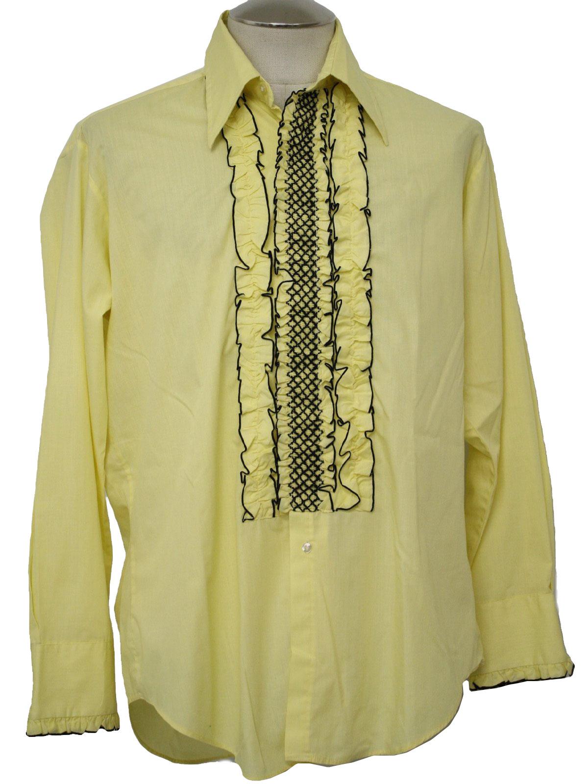 1970 39 S Vintage After Six Shirt 70s After Six Mens Lemon