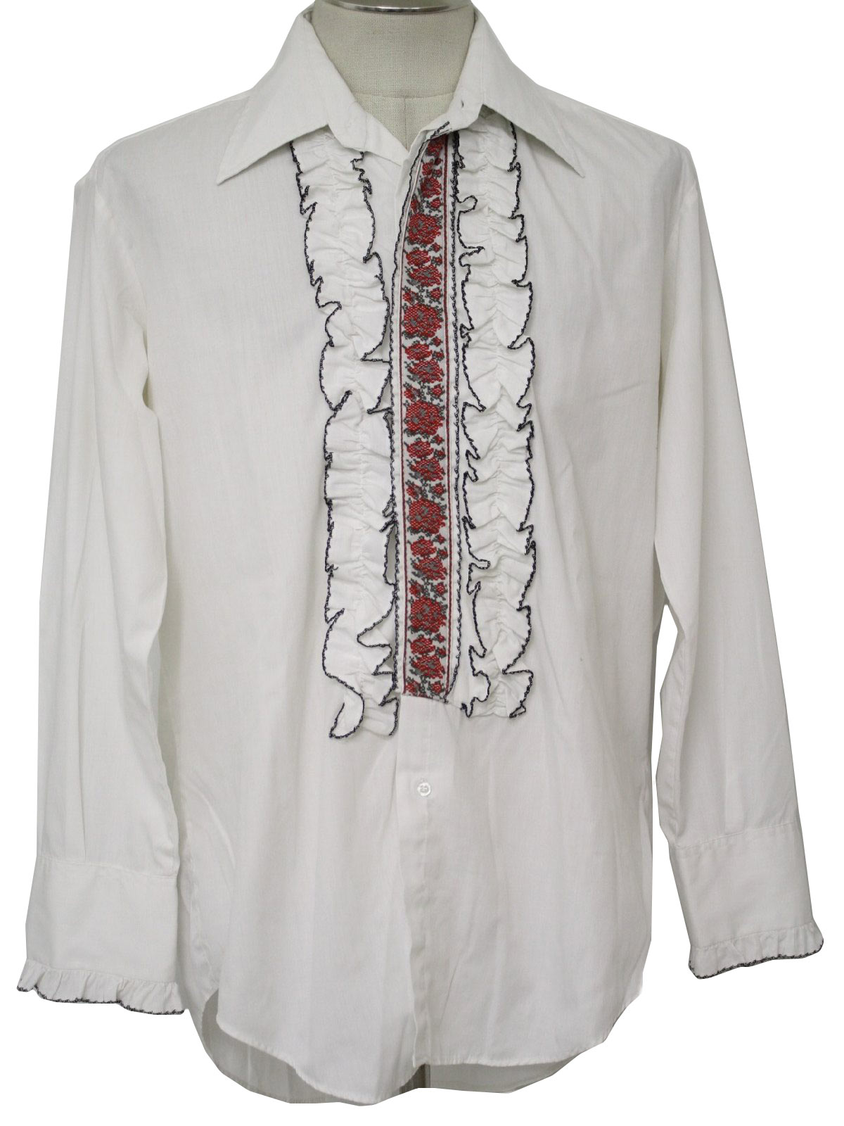 After Six 70 39 S Vintage Shirt 70s After Six Mens White