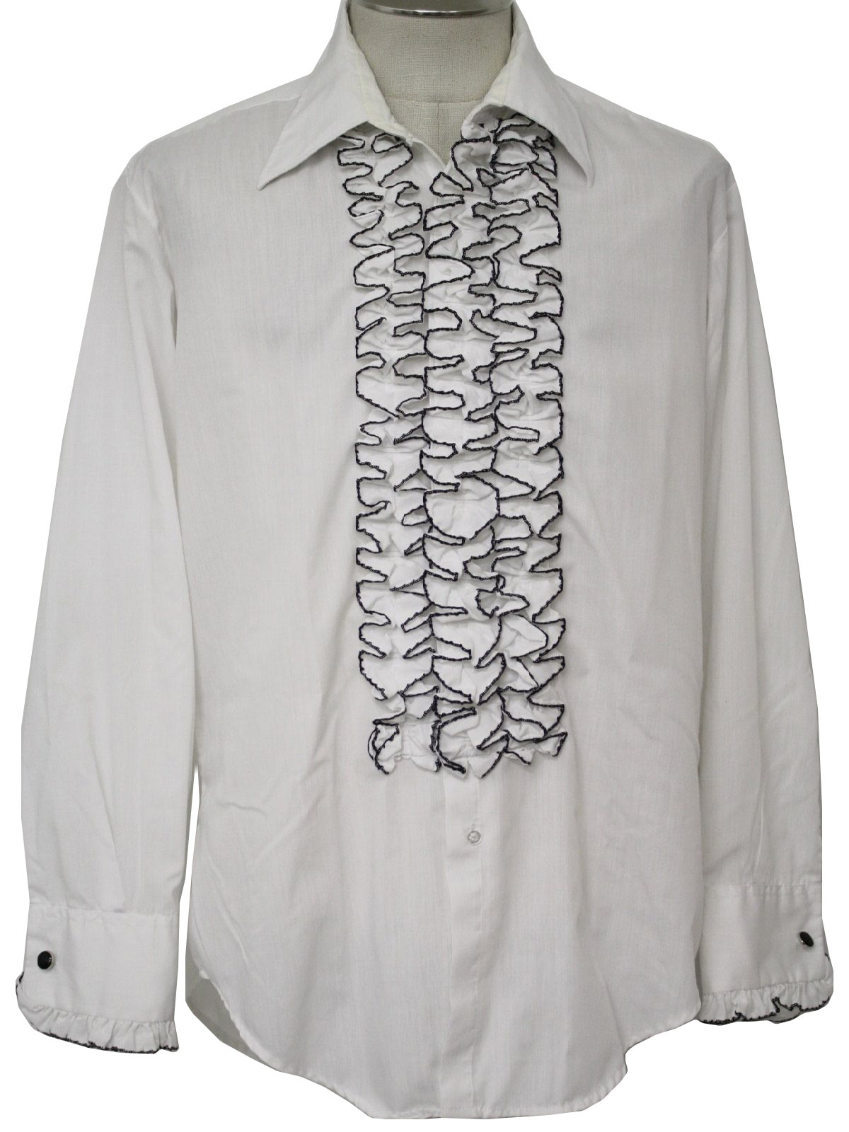 1970s After Six Shirt 70s After Six Mens White