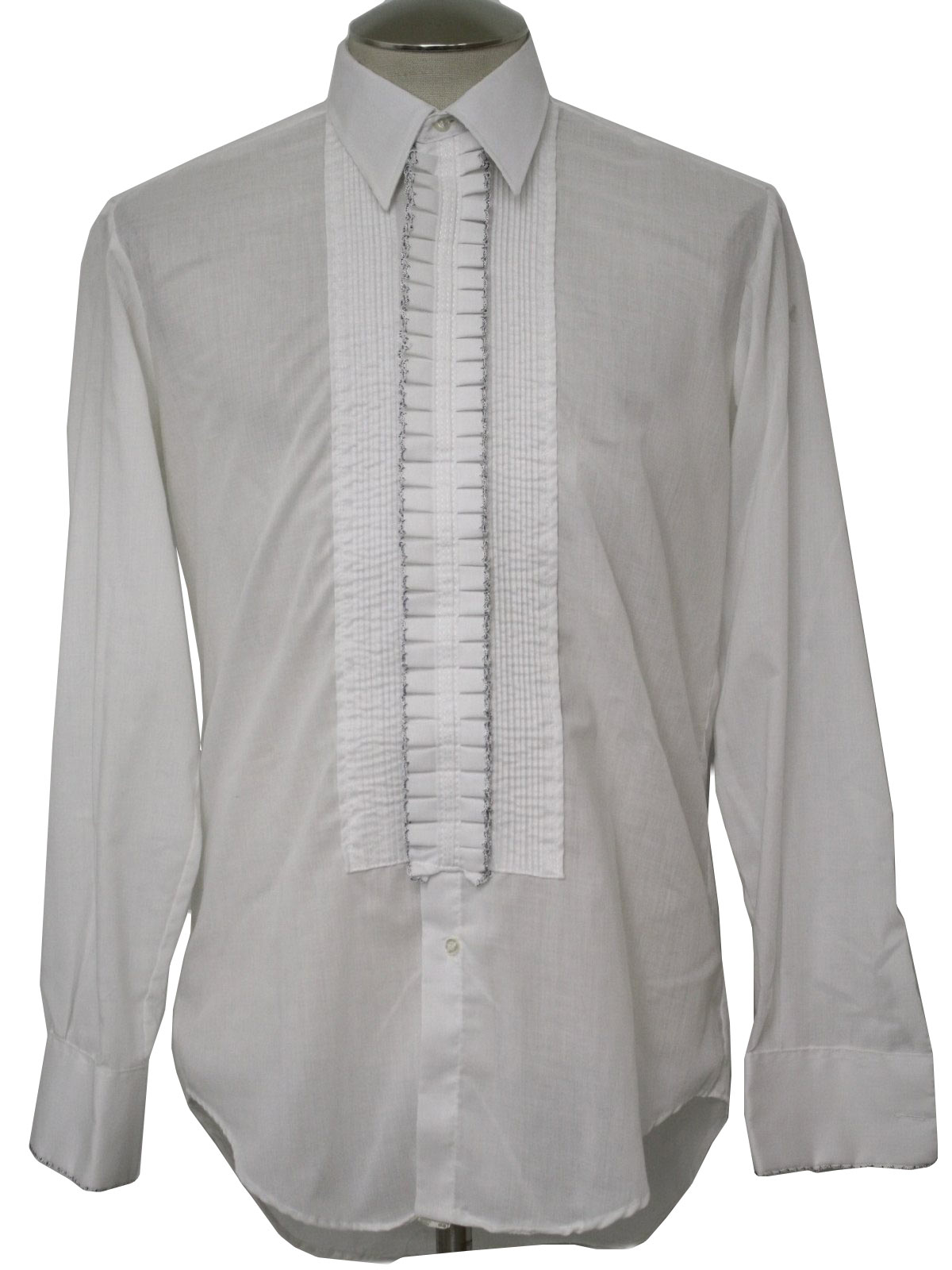 1970 39 S Vintage After Six Shirt 70s After Six Mens White